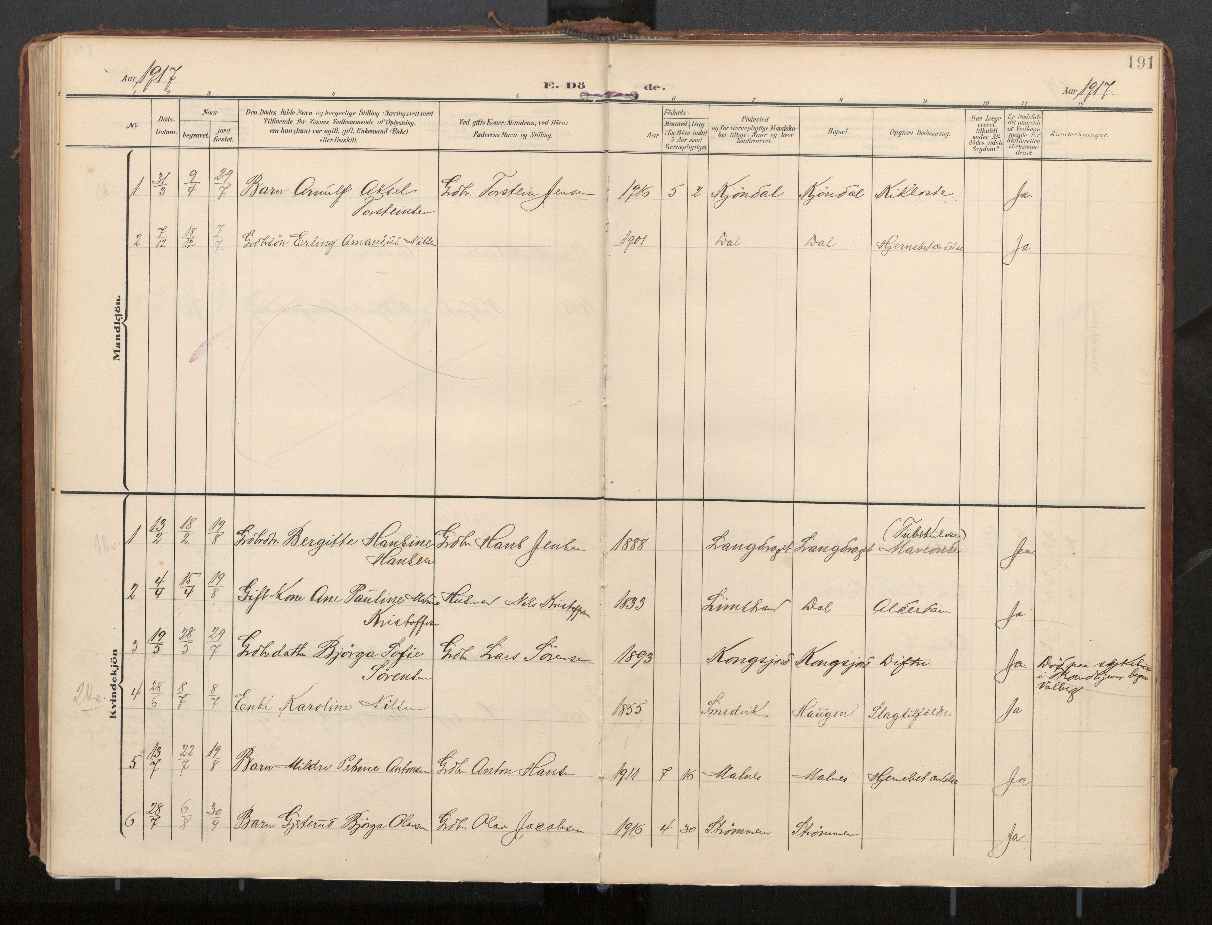 SAT, Ministerialprotokoller, klokkerbøker og fødselsregistre - Nordland, 884/L1194: Ministerialbok nr. 884A02, 1906-1937, s. 191