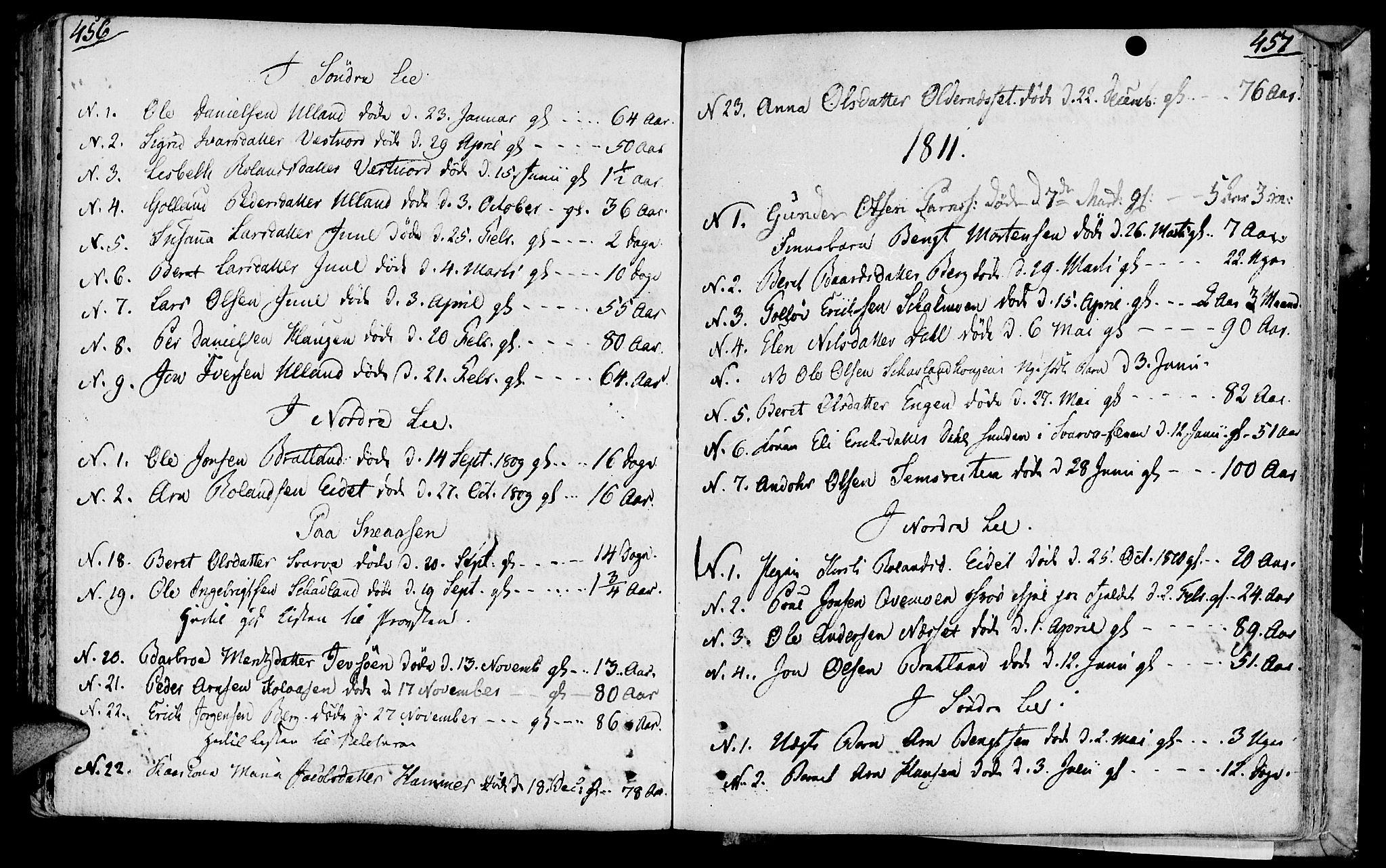 SAT, Ministerialprotokoller, klokkerbøker og fødselsregistre - Nord-Trøndelag, 749/L0468: Ministerialbok nr. 749A02, 1787-1817, s. 456-457