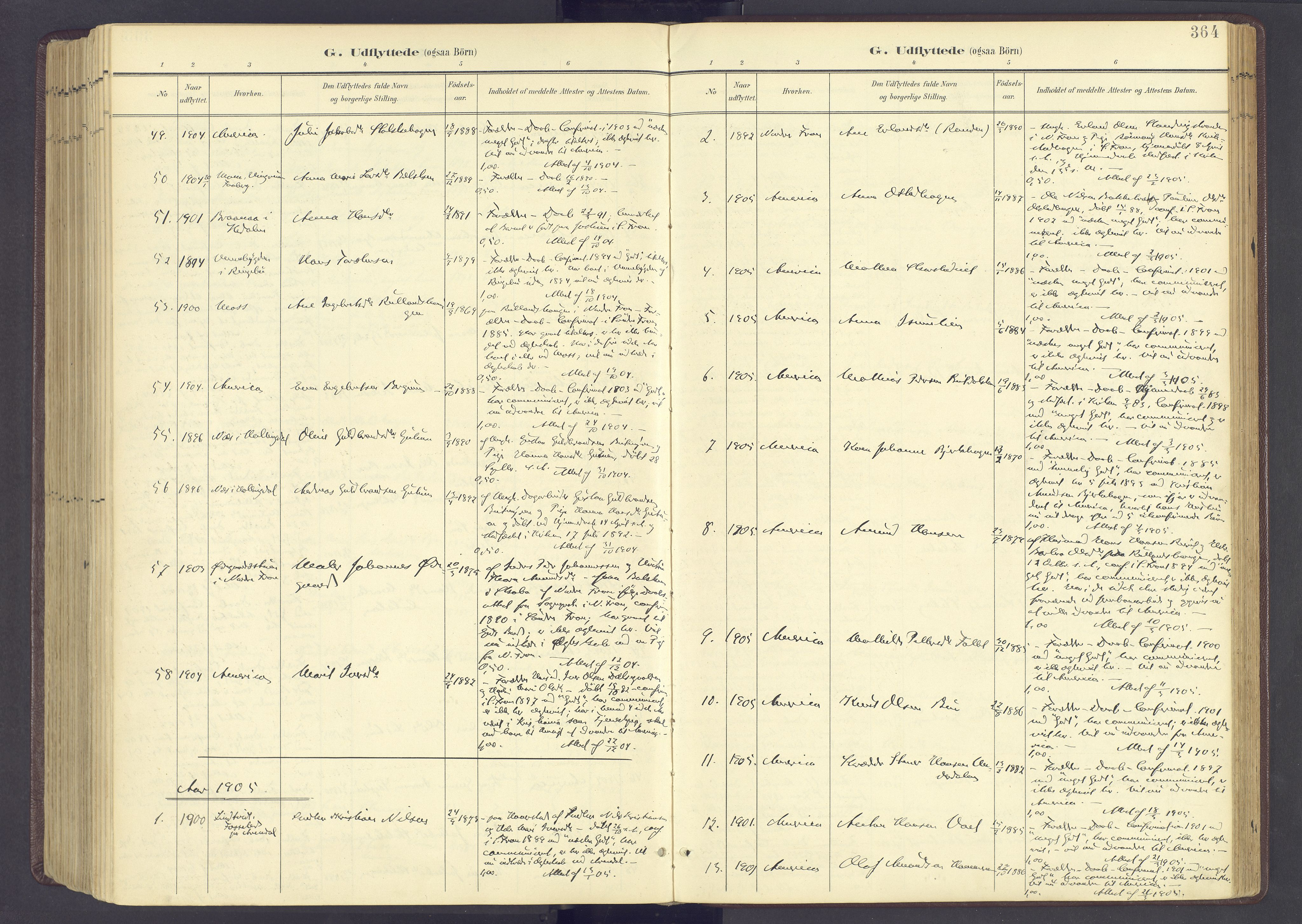 SAH, Sør-Fron prestekontor, H/Ha/Haa/L0004: Ministerialbok nr. 4, 1898-1919, s. 364