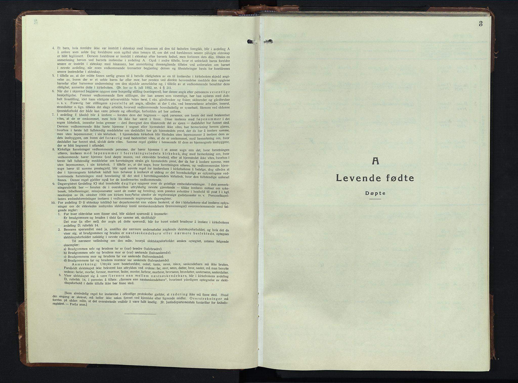 SAH, Sel prestekontor, Klokkerbok nr. 3, 1940-1951, s. 3