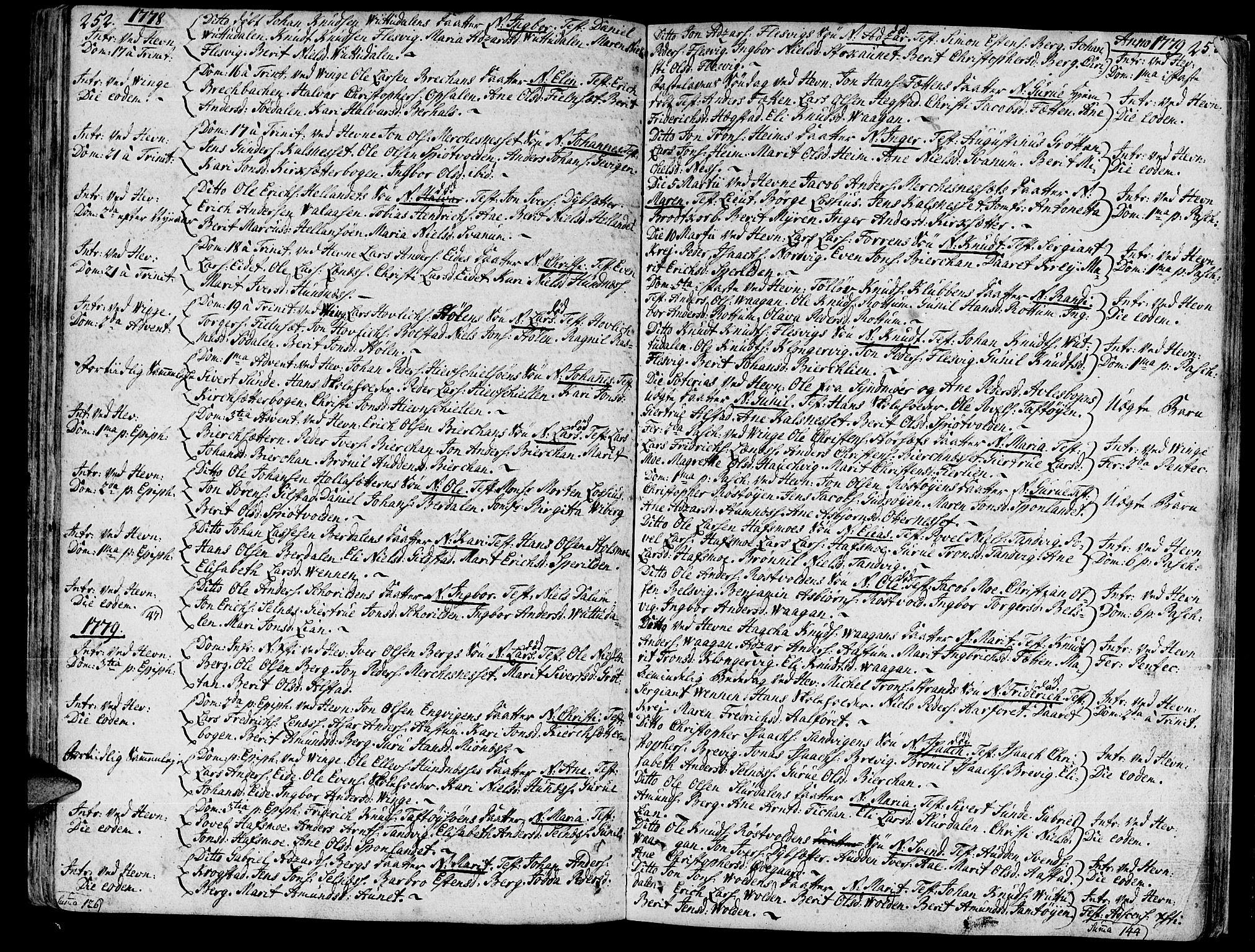 SAT, Ministerialprotokoller, klokkerbøker og fødselsregistre - Sør-Trøndelag, 630/L0489: Ministerialbok nr. 630A02, 1757-1794, s. 252-253