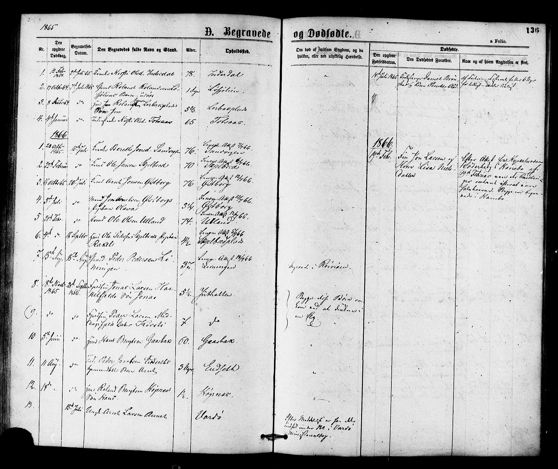 SAT, Ministerialprotokoller, klokkerbøker og fødselsregistre - Nord-Trøndelag, 755/L0493: Ministerialbok nr. 755A02, 1865-1881, s. 136