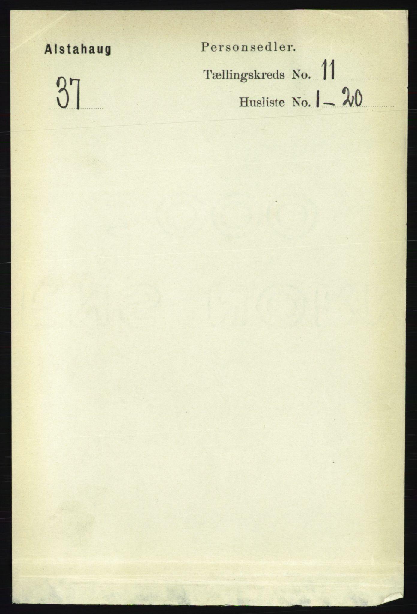 RA, Folketelling 1891 for 1820 Alstahaug herred, 1891, s. 3869