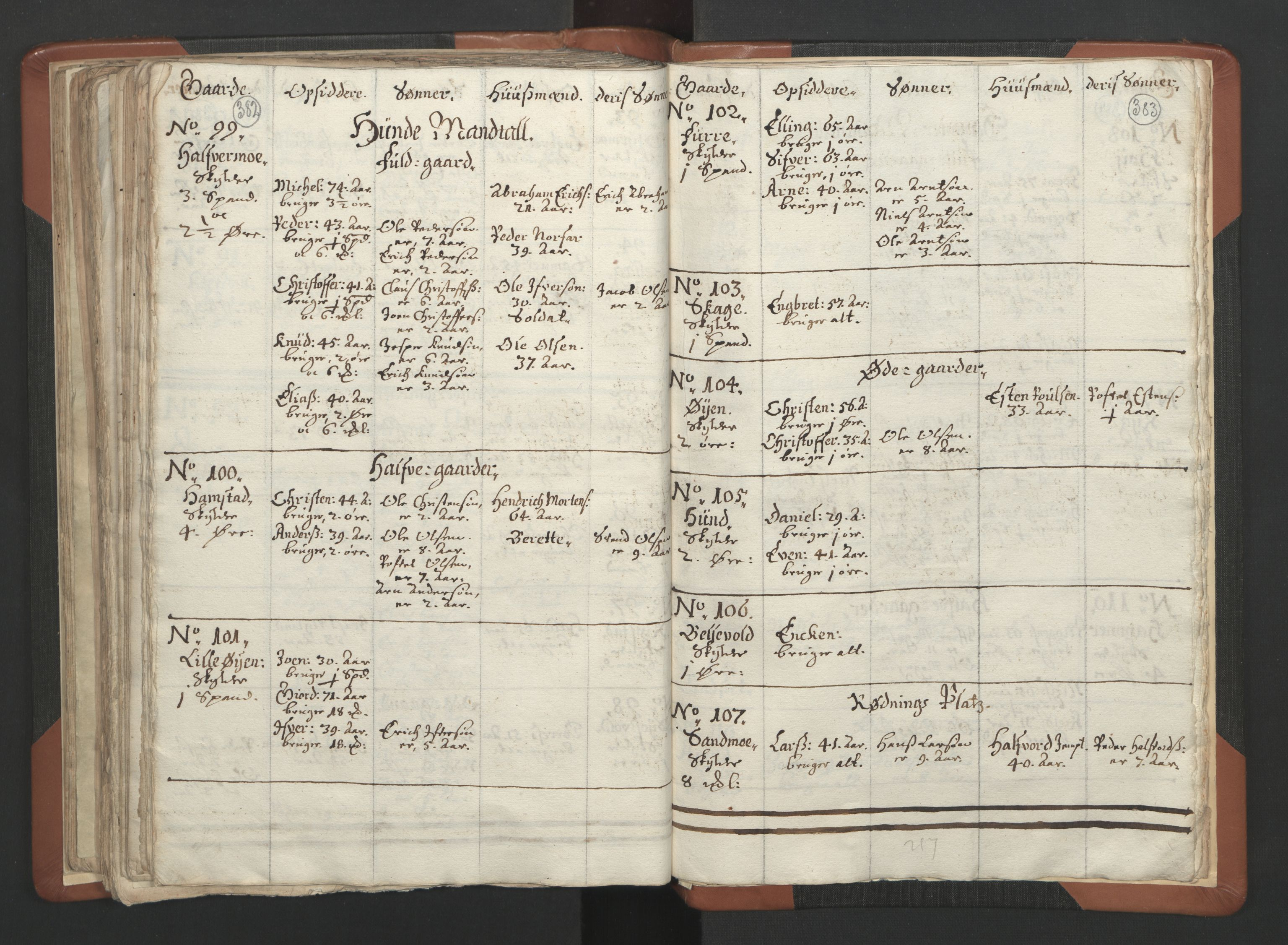 RA, Sogneprestenes manntall 1664-1666, nr. 34: Namdal prosti, 1664-1666, s. 382-383