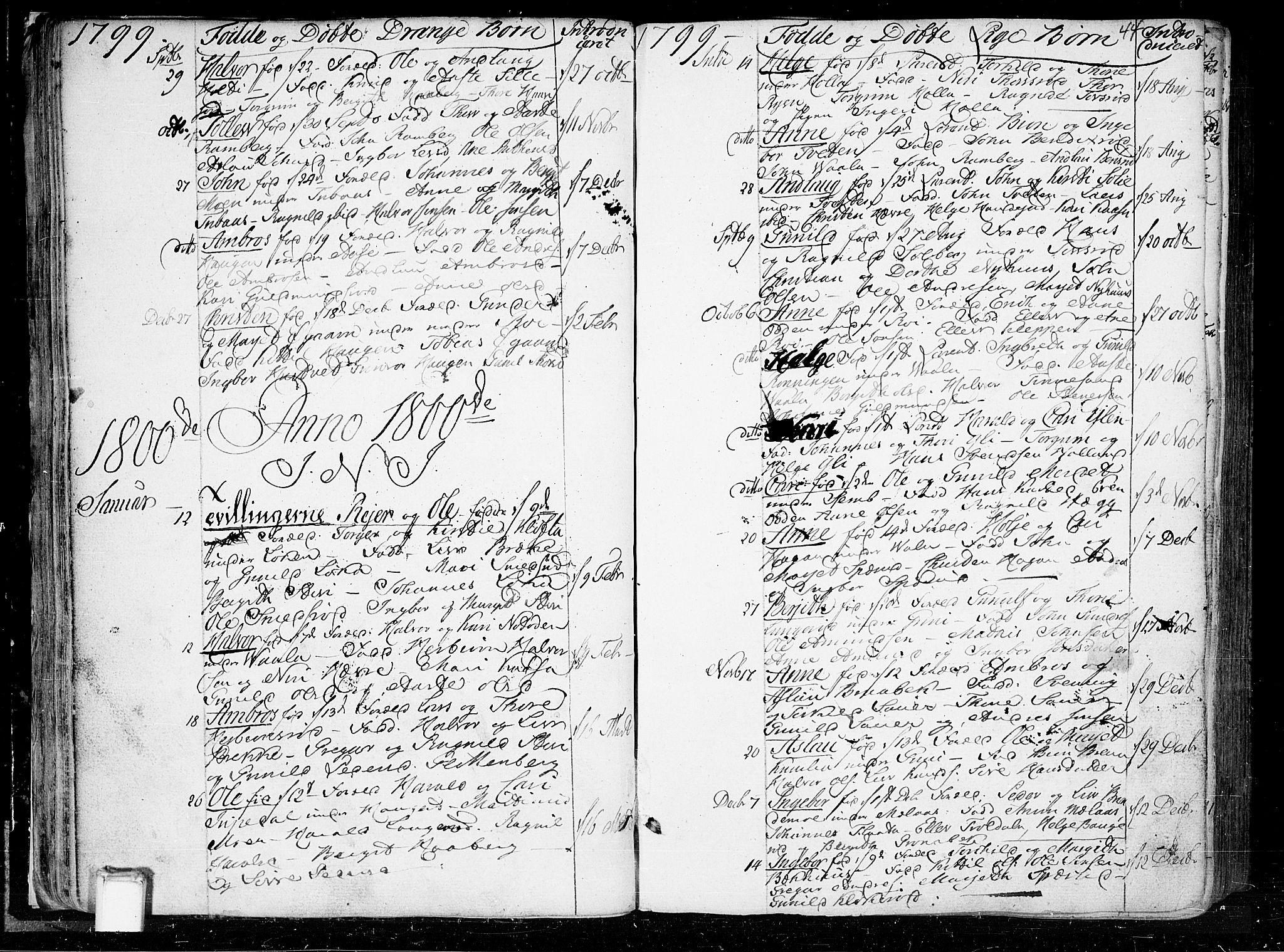 SAKO, Heddal kirkebøker, F/Fa/L0004: Ministerialbok nr. I 4, 1784-1814, s. 44