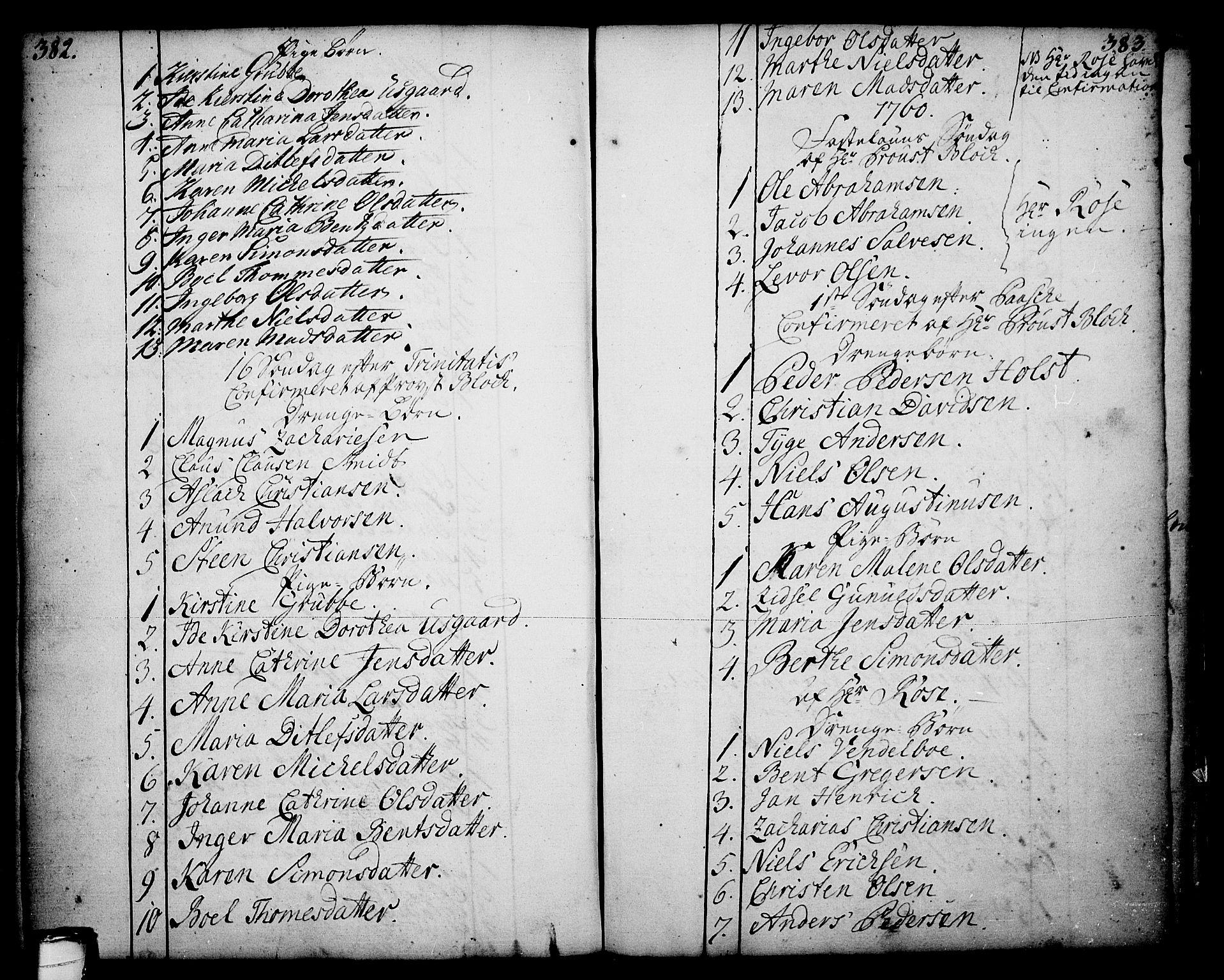 SAKO, Skien kirkebøker, F/Fa/L0003: Ministerialbok nr. 3, 1755-1791, s. 382-383