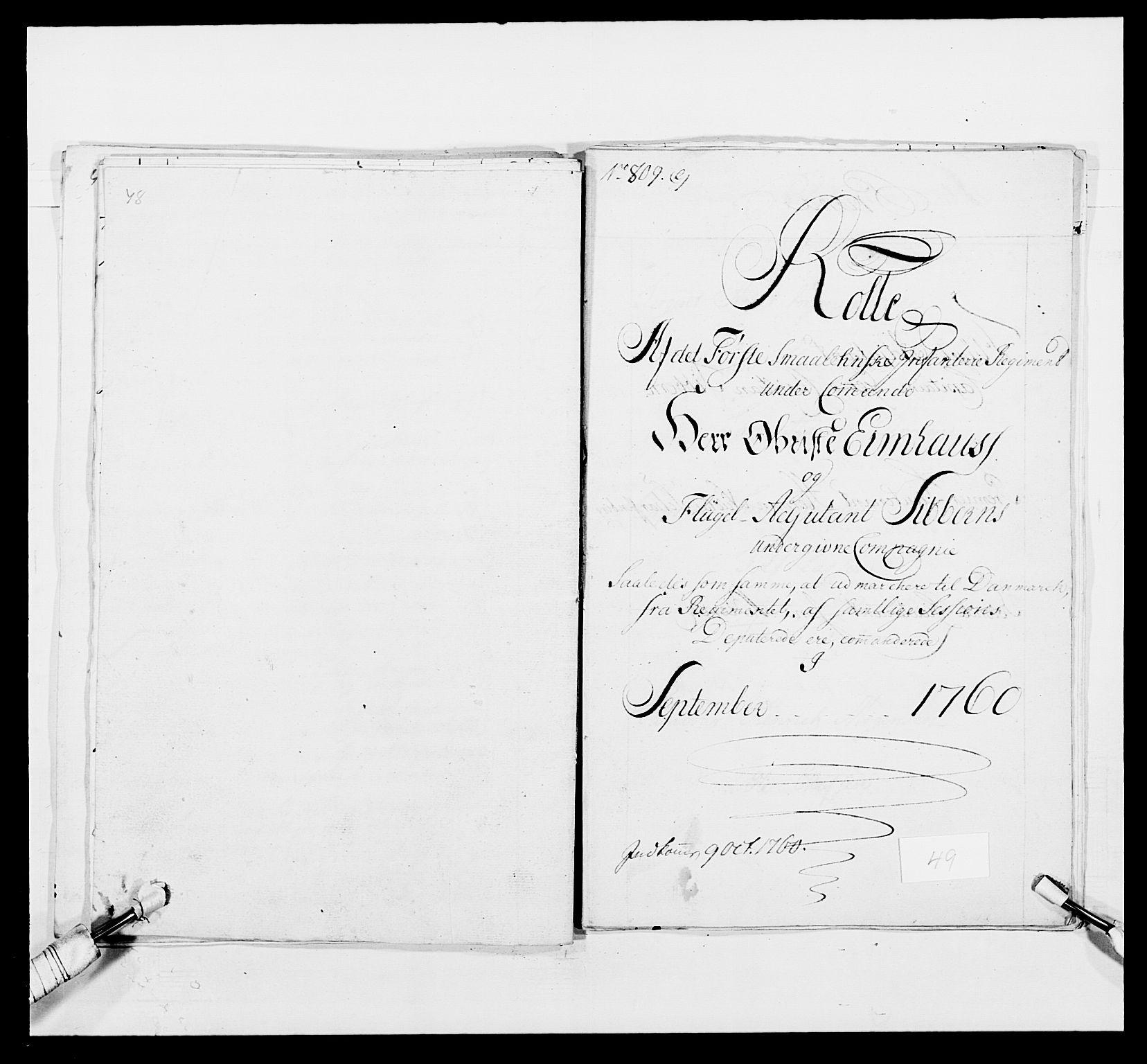 RA, Kommanderende general (KG I) med Det norske krigsdirektorium, E/Ea/L0495: 1. Smålenske regiment, 1732-1763, s. 653