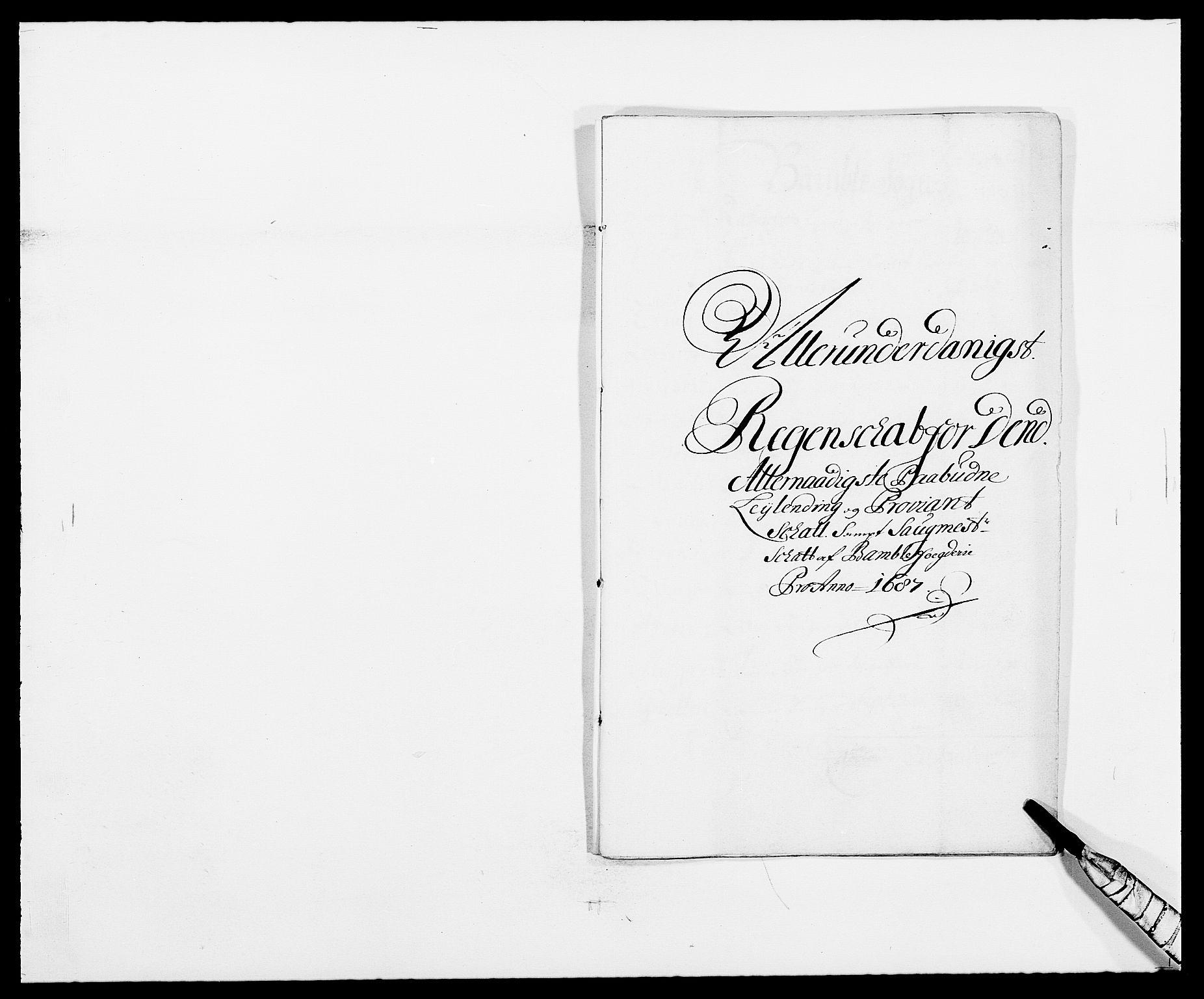 RA, Rentekammeret inntil 1814, Reviderte regnskaper, Fogderegnskap, R34/L2049: Fogderegnskap Bamble, 1685-1687, s. 229
