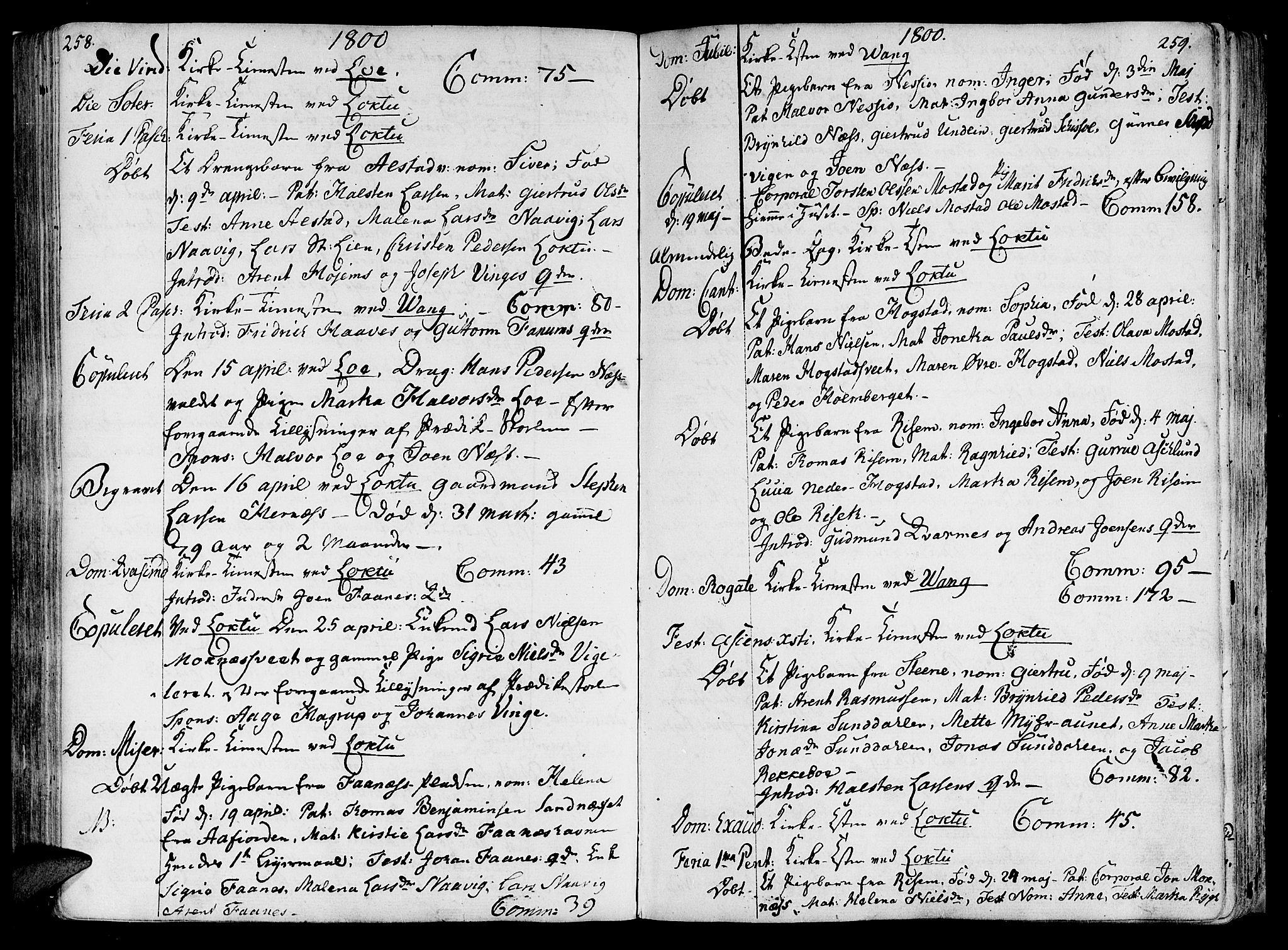 SAT, Ministerialprotokoller, klokkerbøker og fødselsregistre - Nord-Trøndelag, 713/L0110: Ministerialbok nr. 713A02, 1778-1811, s. 258-259