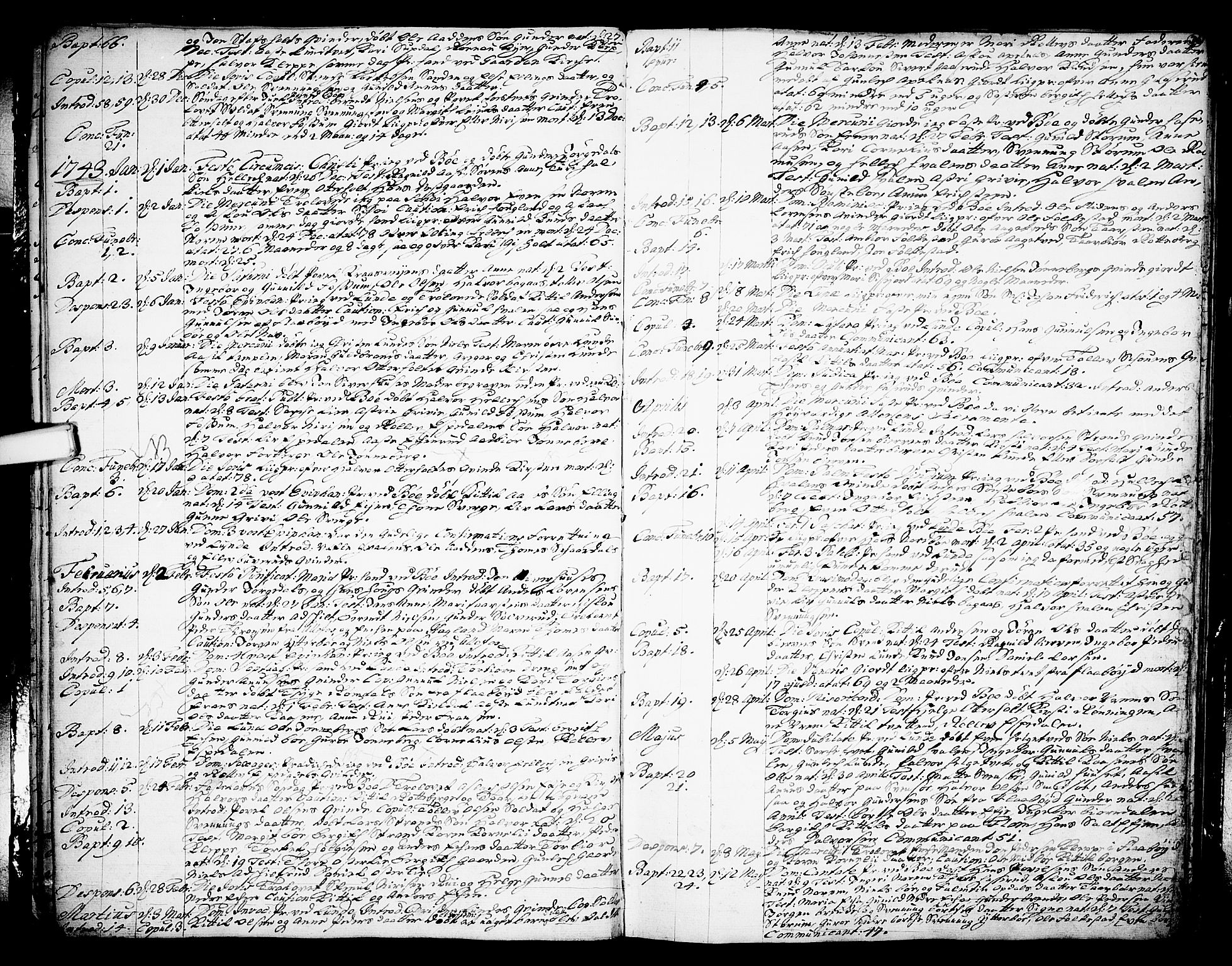 SAKO, Bø kirkebøker, F/Fa/L0003: Ministerialbok nr. 3, 1733-1748, s. 26