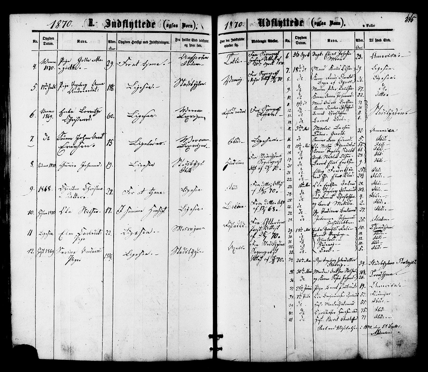 SAT, Ministerialprotokoller, klokkerbøker og fødselsregistre - Nord-Trøndelag, 701/L0009: Ministerialbok nr. 701A09 /1, 1864-1882, s. 345