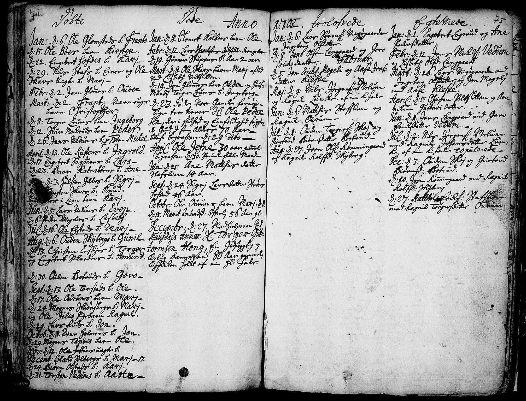 SAH, Øyer prestekontor, Ministerialbok nr. 1, 1671-1727, s. 74-75
