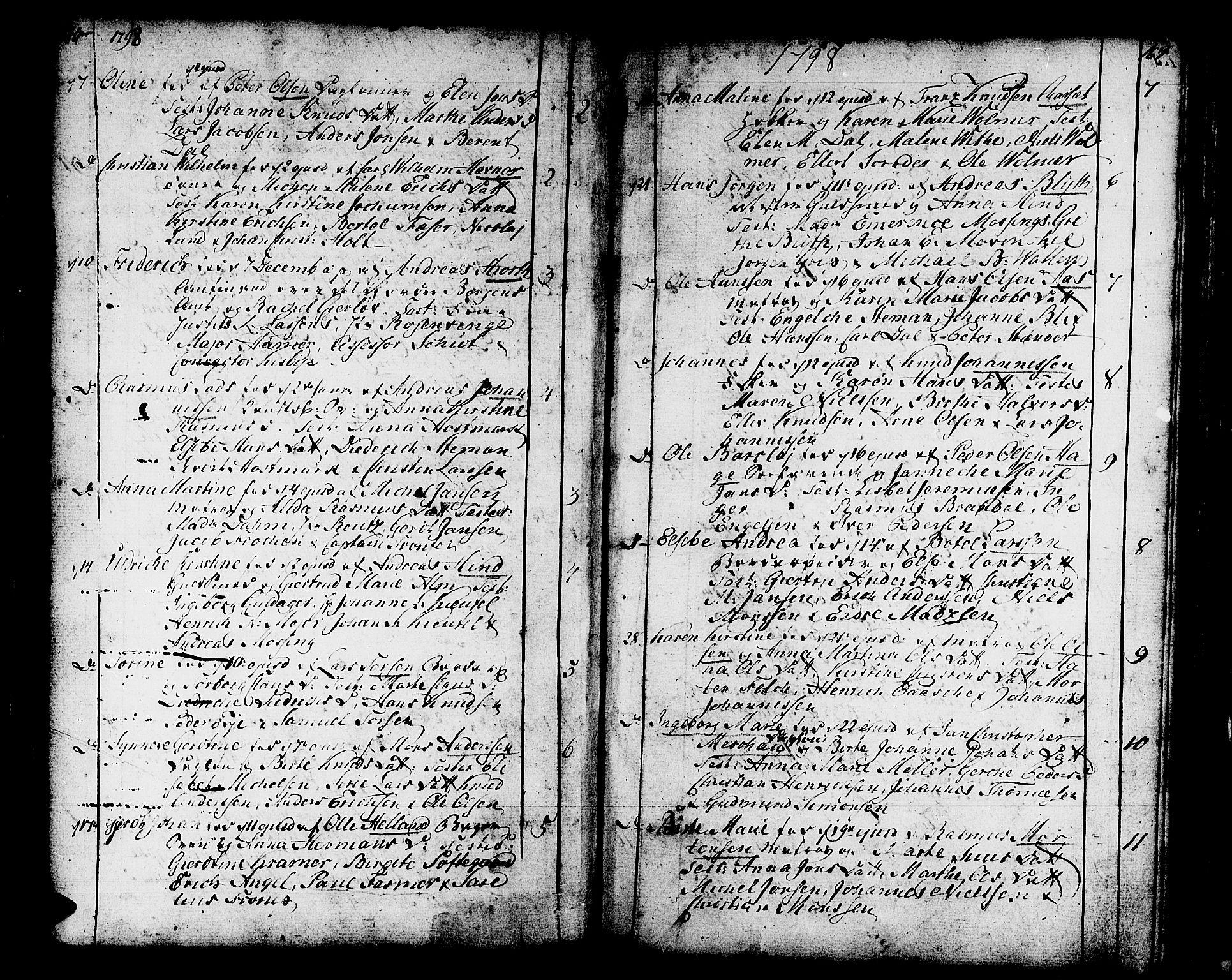 SAB, Domkirken sokneprestembete, H/Haa/L0004: Ministerialbok nr. A 4, 1763-1820, s. 166-167