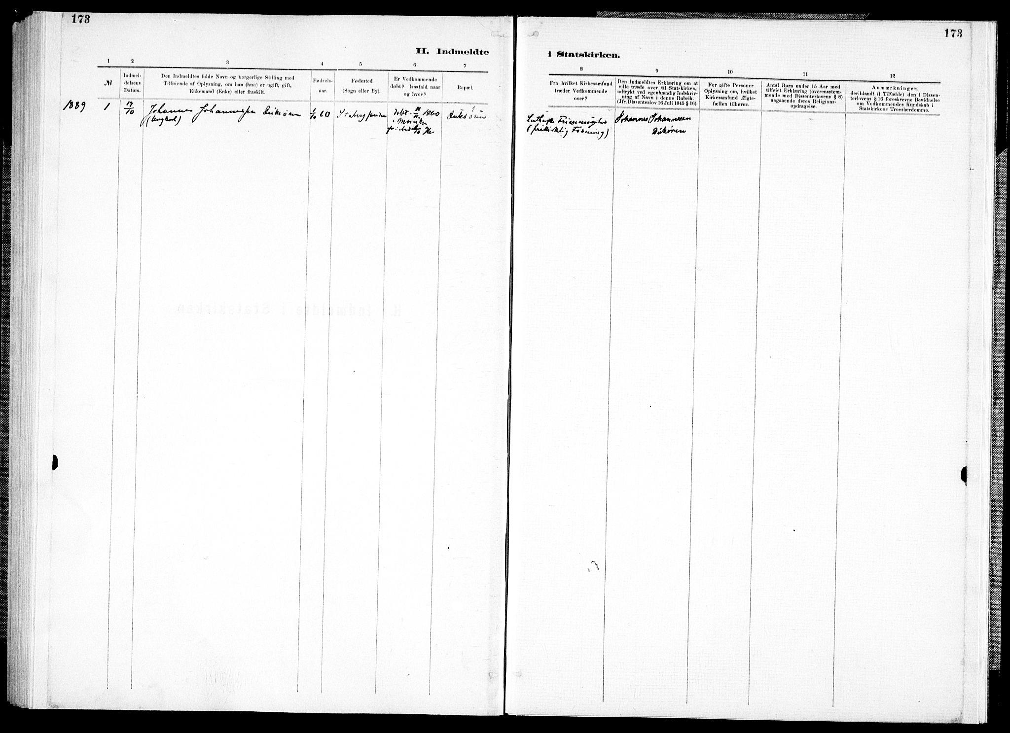 SAT, Ministerialprotokoller, klokkerbøker og fødselsregistre - Nord-Trøndelag, 733/L0325: Ministerialbok nr. 733A04, 1884-1908, s. 173
