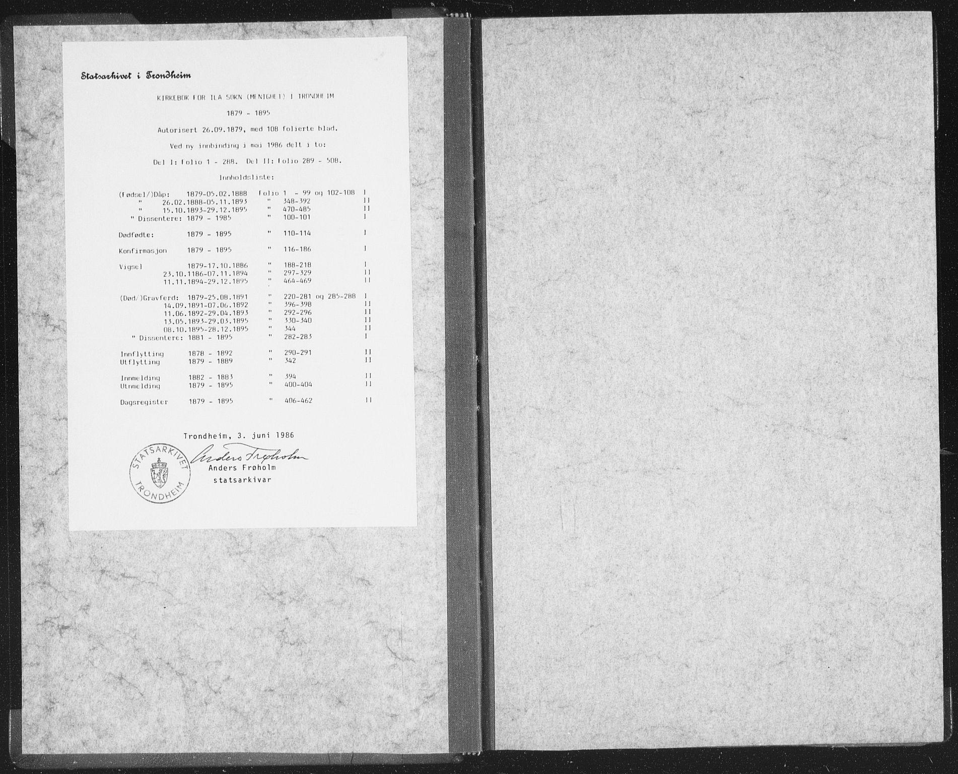 SAT, Ministerialprotokoller, klokkerbøker og fødselsregistre - Sør-Trøndelag, 603/L0163: Ministerialbok nr. 603A02, 1879-1895
