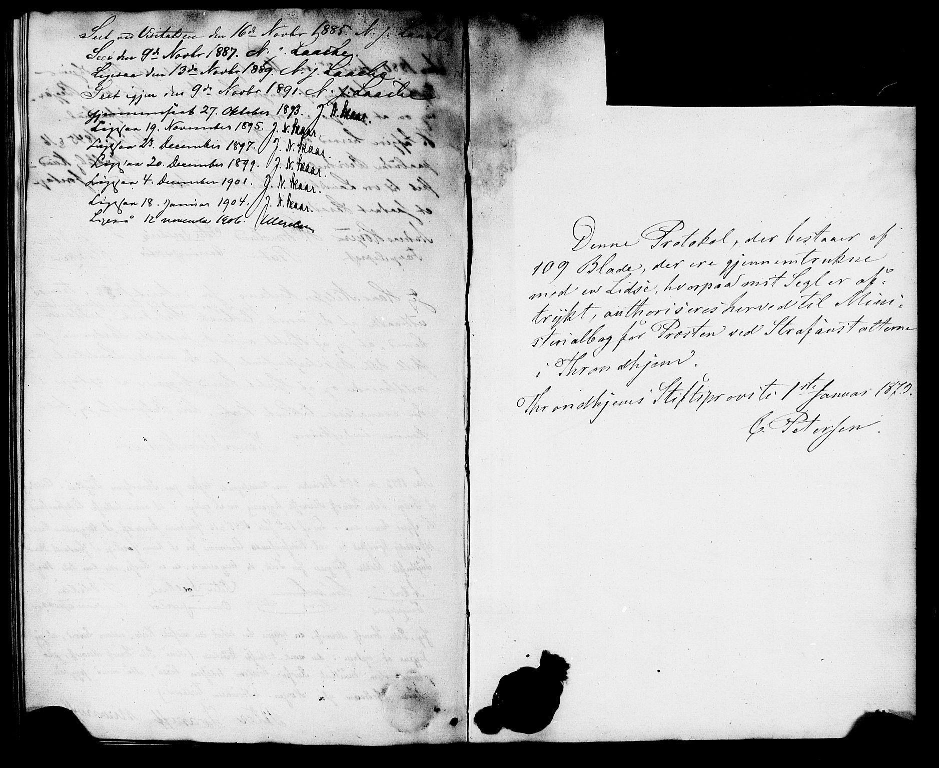 SAT, Ministerialprotokoller, klokkerbøker og fødselsregistre - Sør-Trøndelag, 624/L0482: Ministerialbok nr. 624A03, 1870-1918