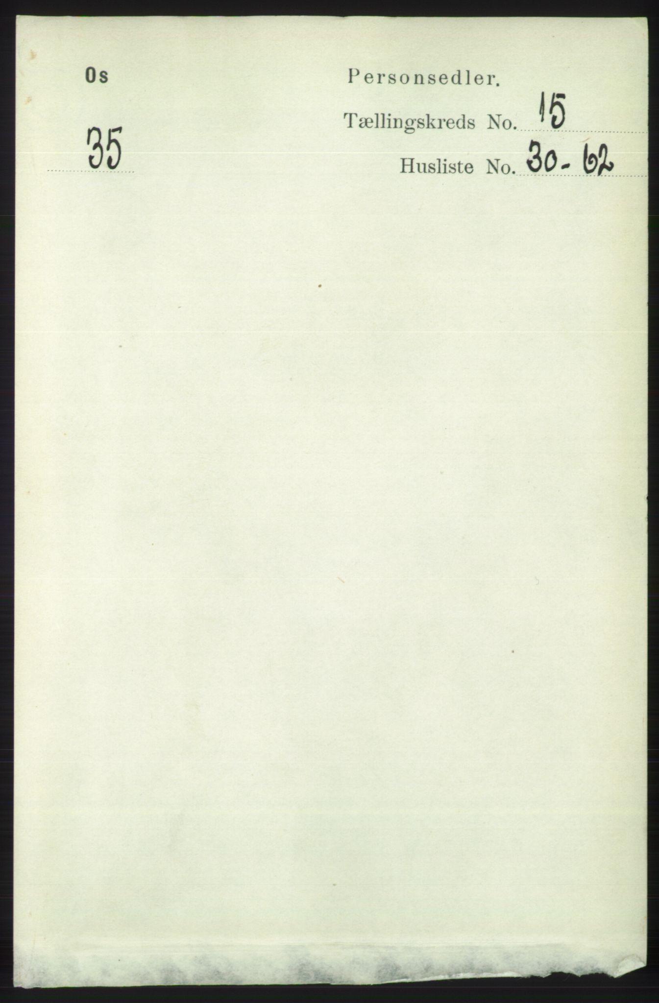 RA, Folketelling 1891 for 1243 Os herred, 1891, s. 3288