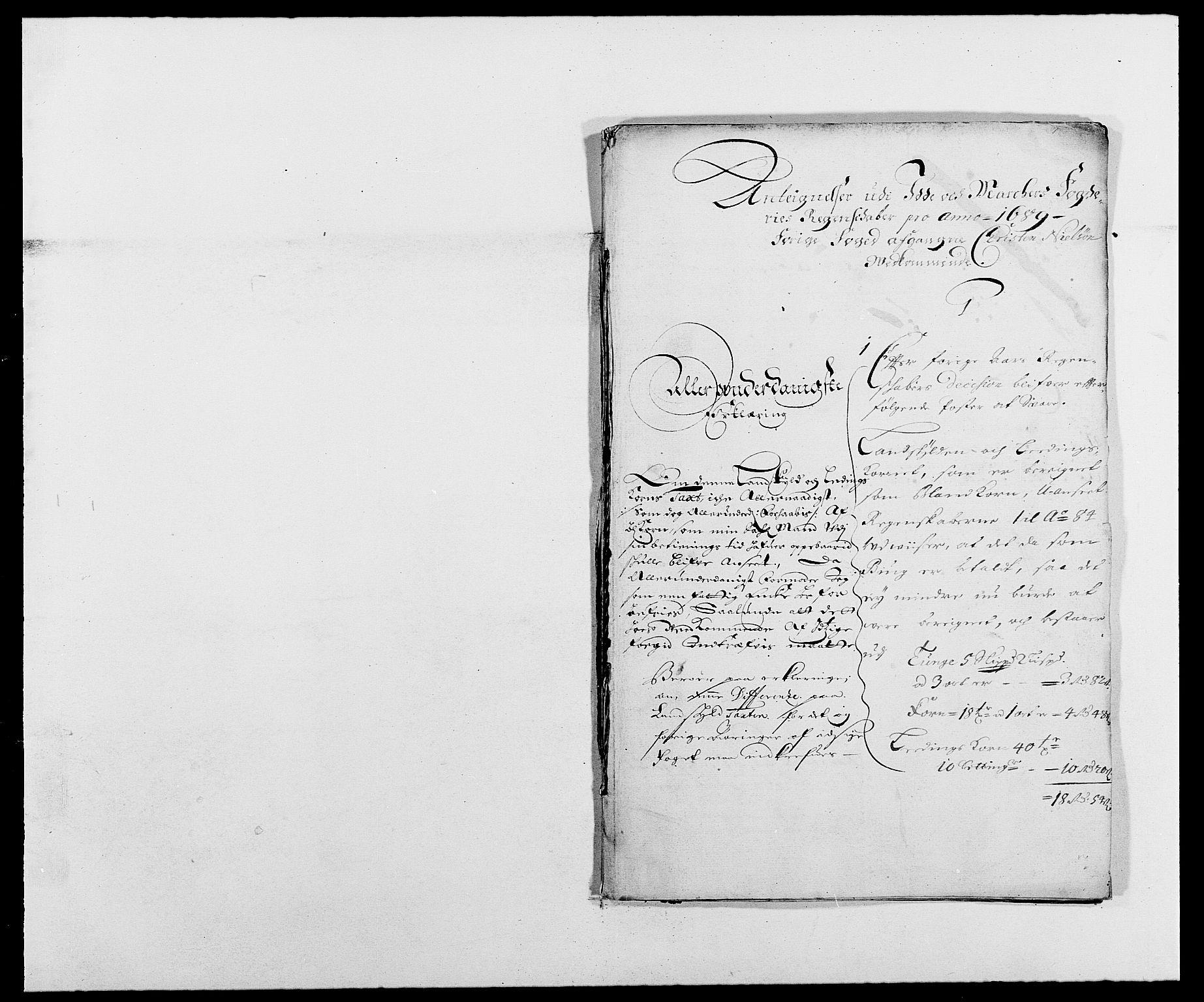 RA, Rentekammeret inntil 1814, Reviderte regnskaper, Fogderegnskap, R01/L0008: Fogderegnskap Idd og Marker, 1689, s. 343