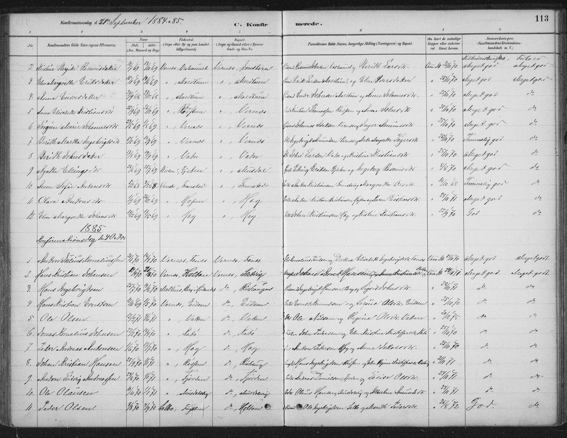 SAT, Ministerialprotokoller, klokkerbøker og fødselsregistre - Sør-Trøndelag, 662/L0755: Ministerialbok nr. 662A01, 1879-1905, s. 113