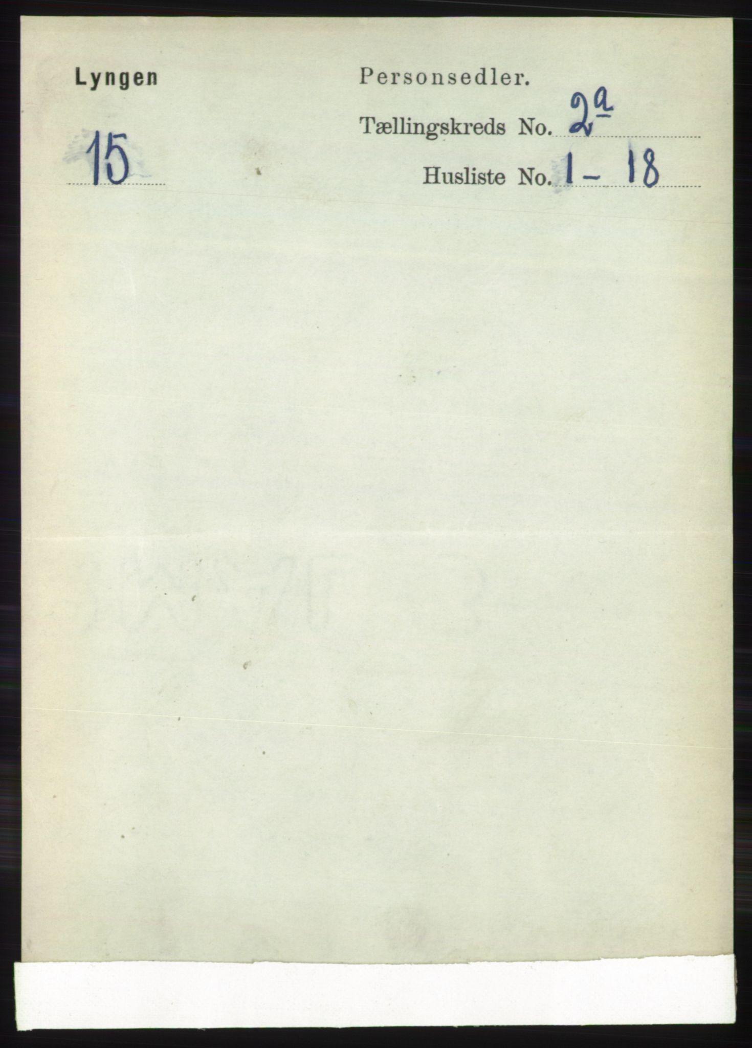 RA, Folketelling 1891 for 1938 Lyngen herred, 1891, s. 1978