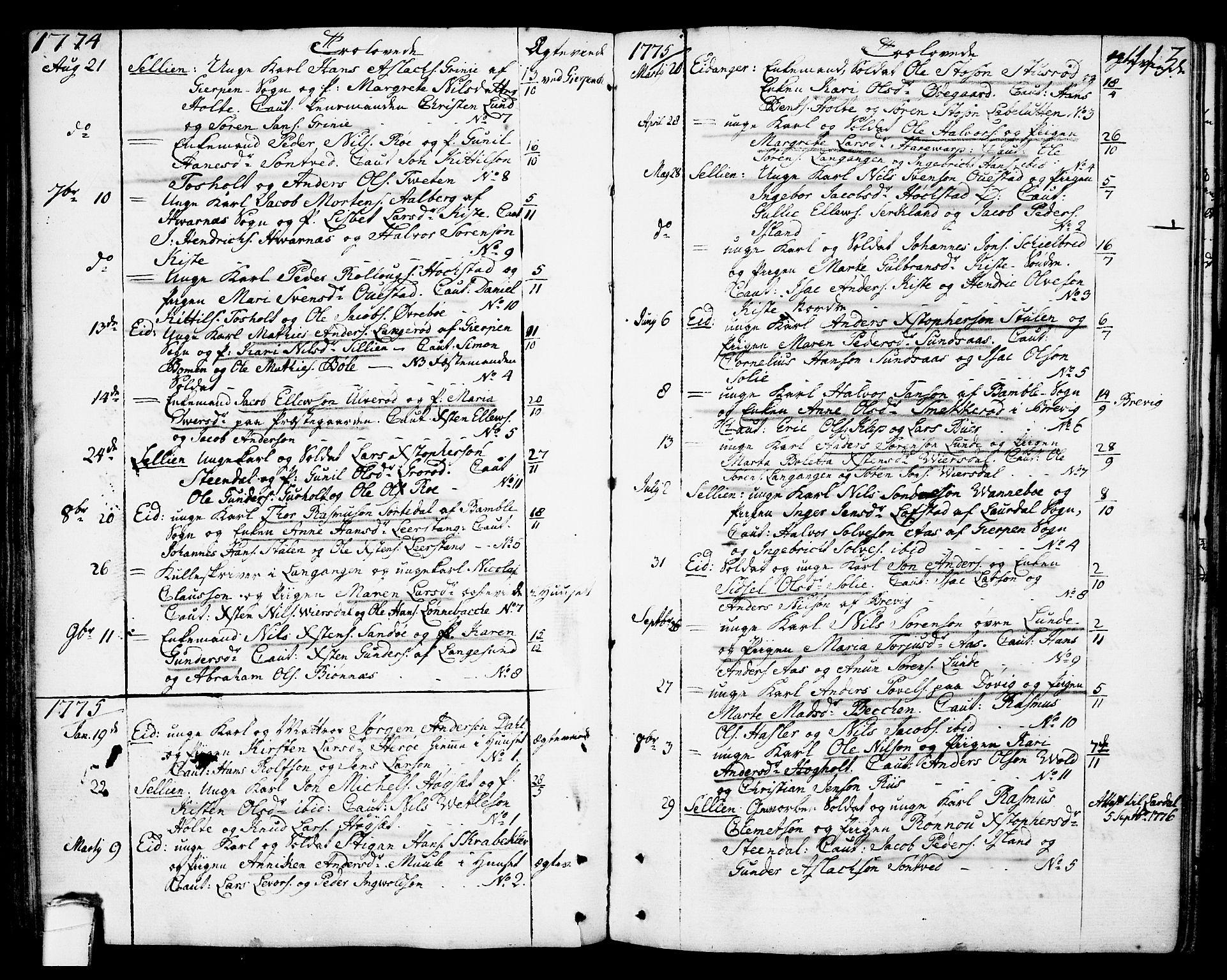 SAKO, Eidanger kirkebøker, F/Fa/L0006: Ministerialbok nr. 6, 1764-1814, s. 113