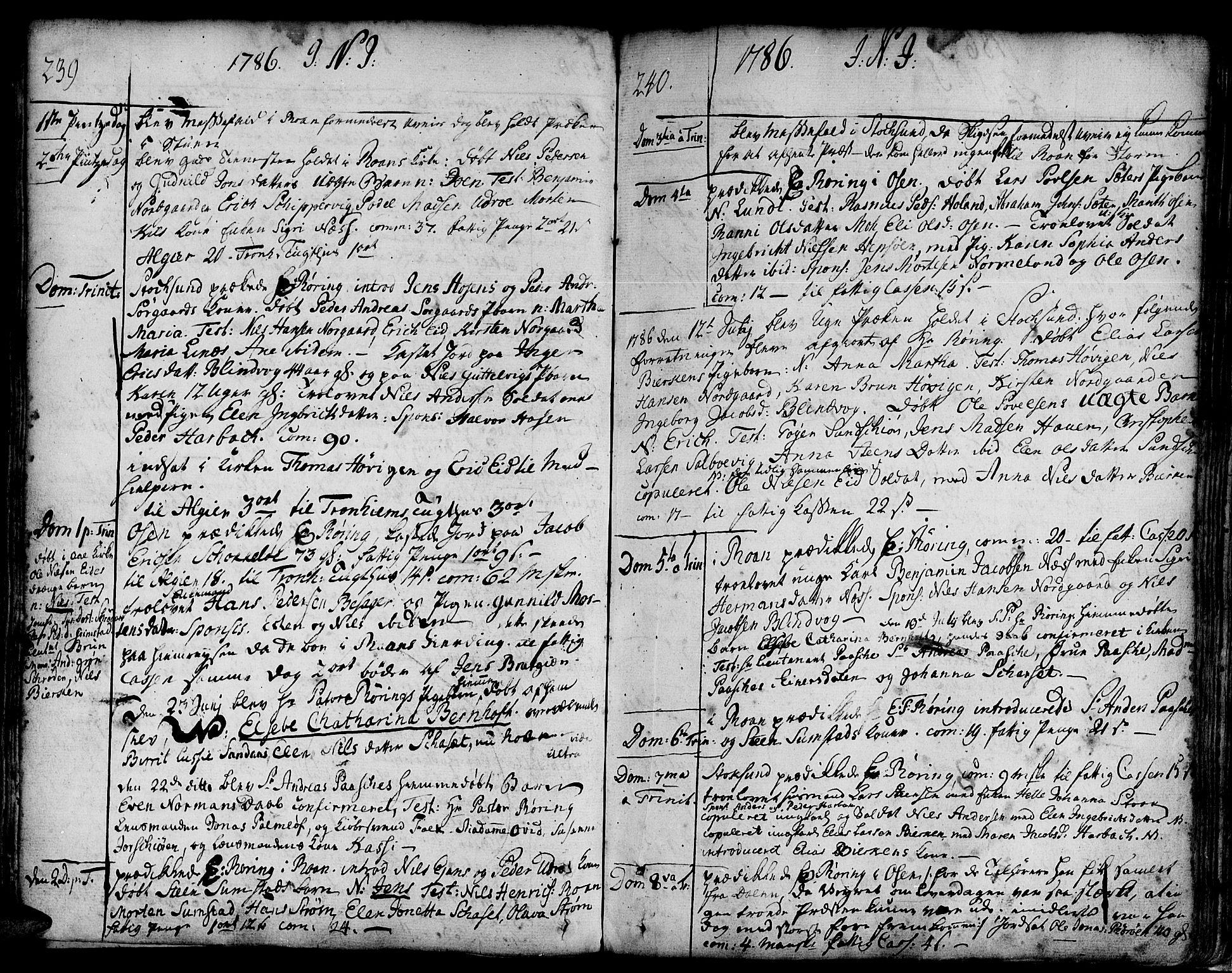 SAT, Ministerialprotokoller, klokkerbøker og fødselsregistre - Sør-Trøndelag, 657/L0700: Ministerialbok nr. 657A01, 1732-1801, s. 339-340