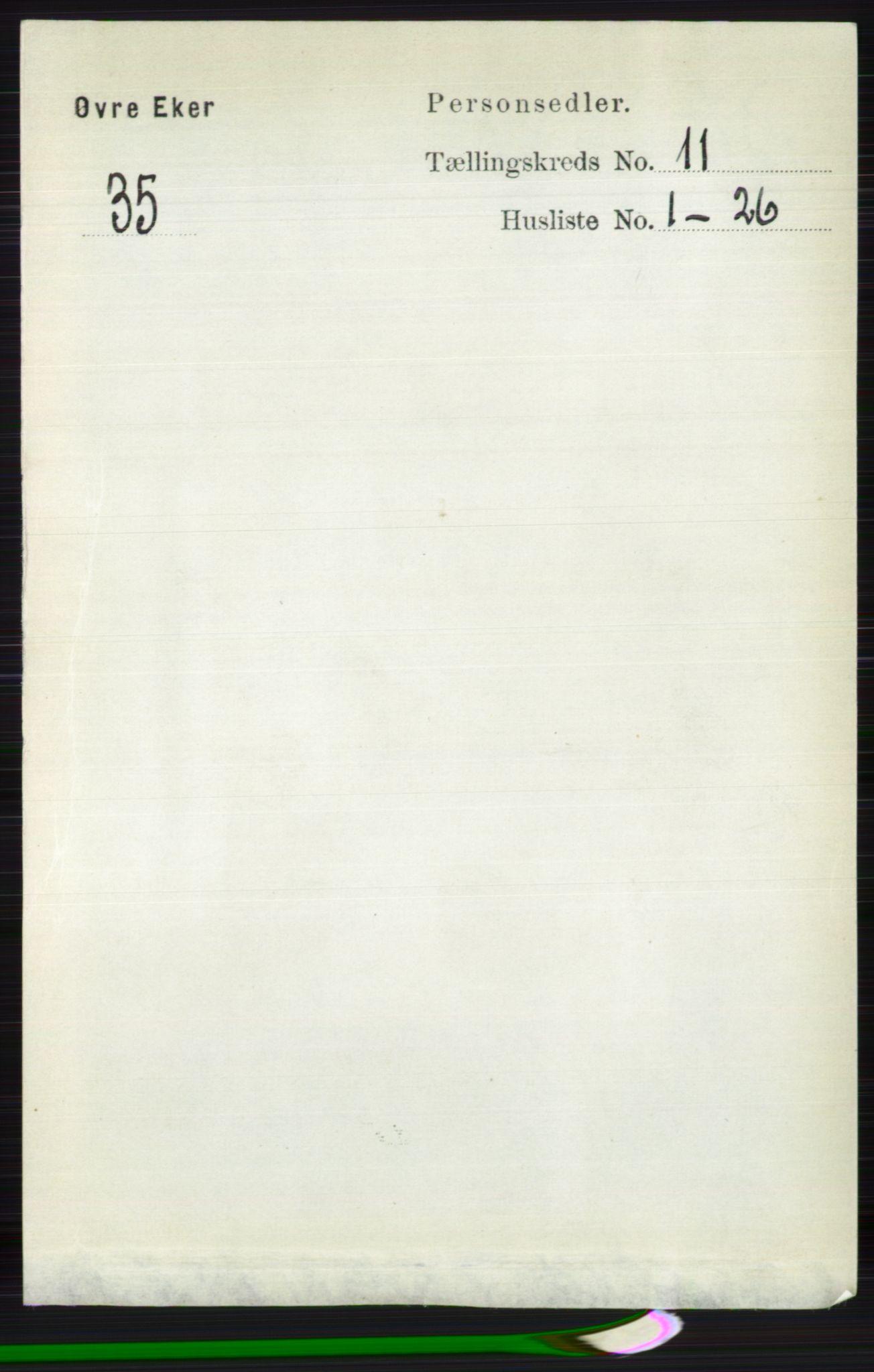 RA, Folketelling 1891 for 0624 Øvre Eiker herred, 1891, s. 4591