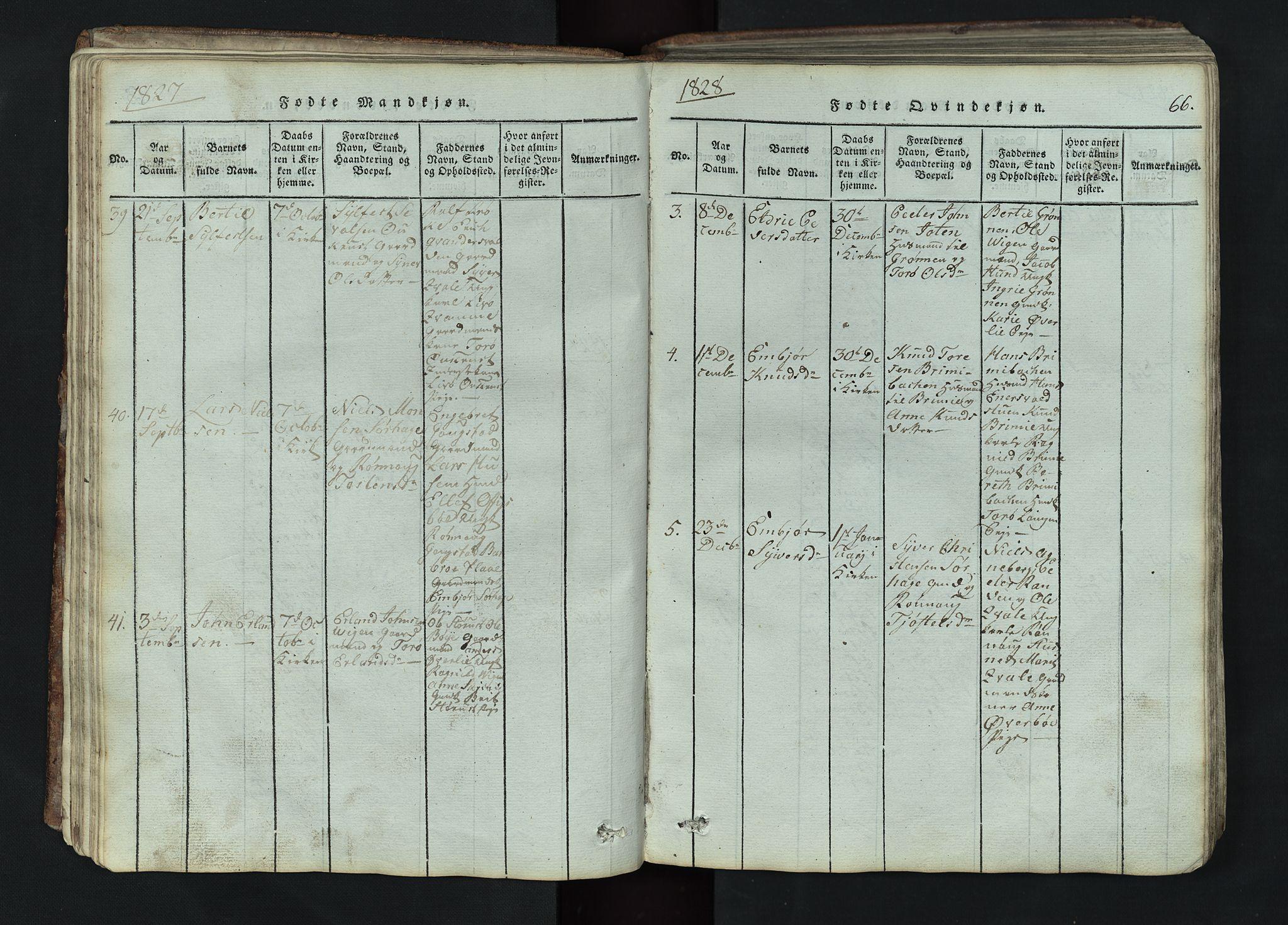 SAH, Lom prestekontor, L/L0002: Klokkerbok nr. 2, 1815-1844, s. 66
