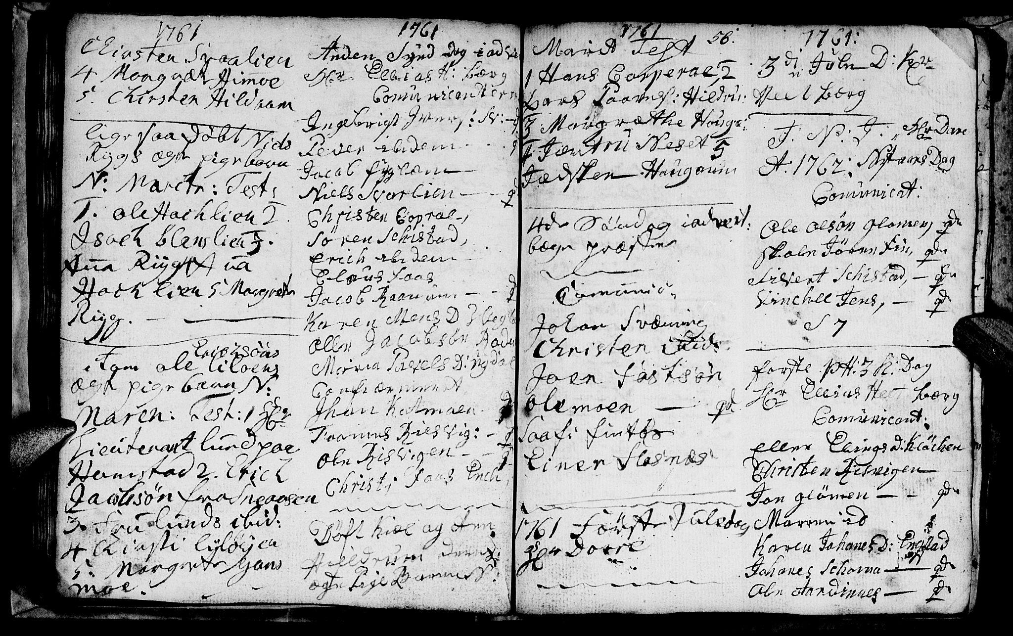 SAT, Ministerialprotokoller, klokkerbøker og fødselsregistre - Nord-Trøndelag, 764/L0543: Ministerialbok nr. 764A03, 1758-1765, s. 56