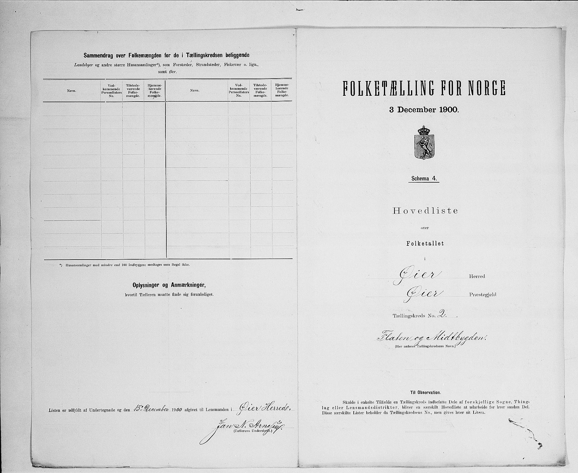 SAH, Folketelling 1900 for 0521 Øyer herred, 1900, s. 17