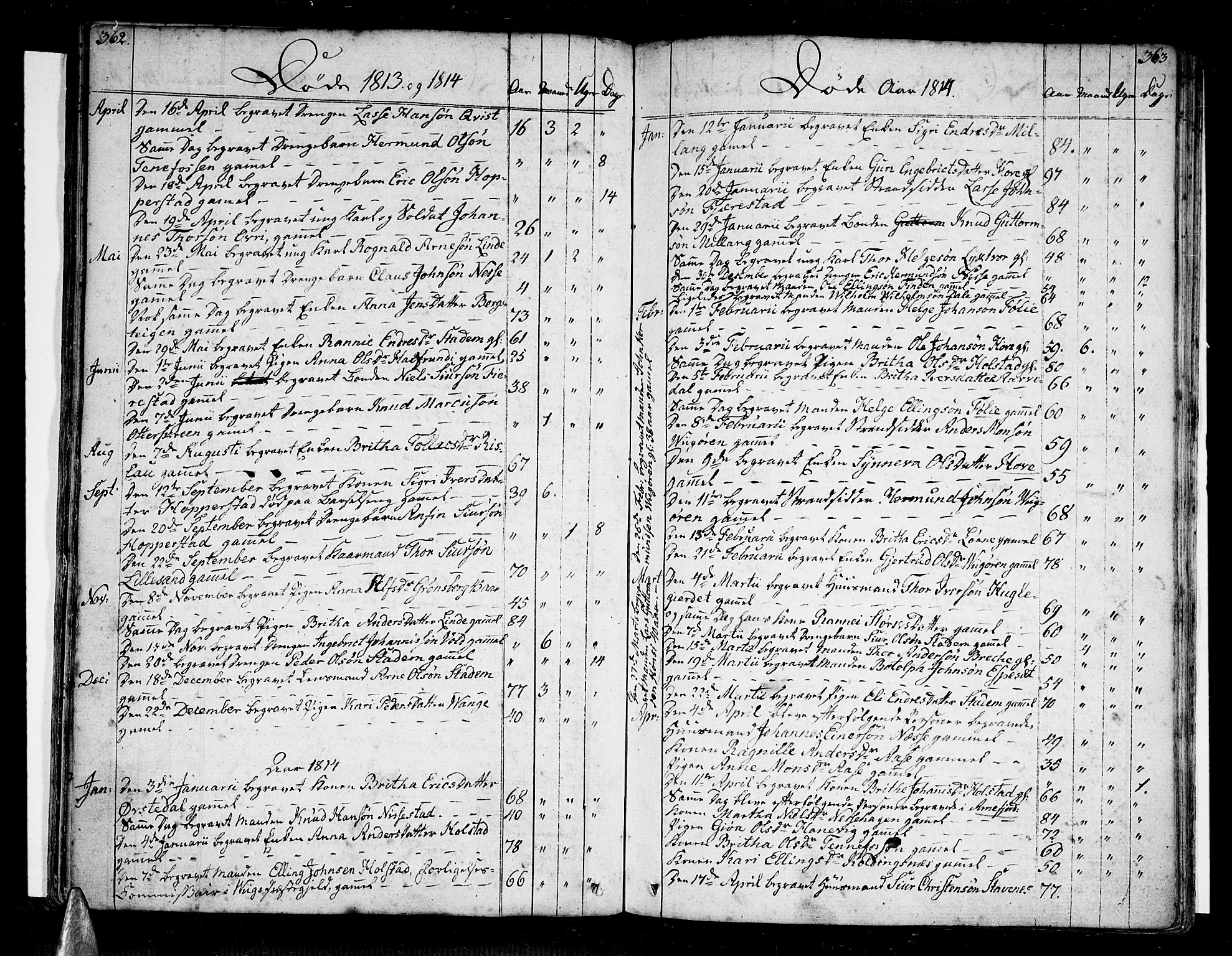 SAB, Vik Sokneprestembete, Ministerialbok nr. A 5, 1787-1820, s. 362-363