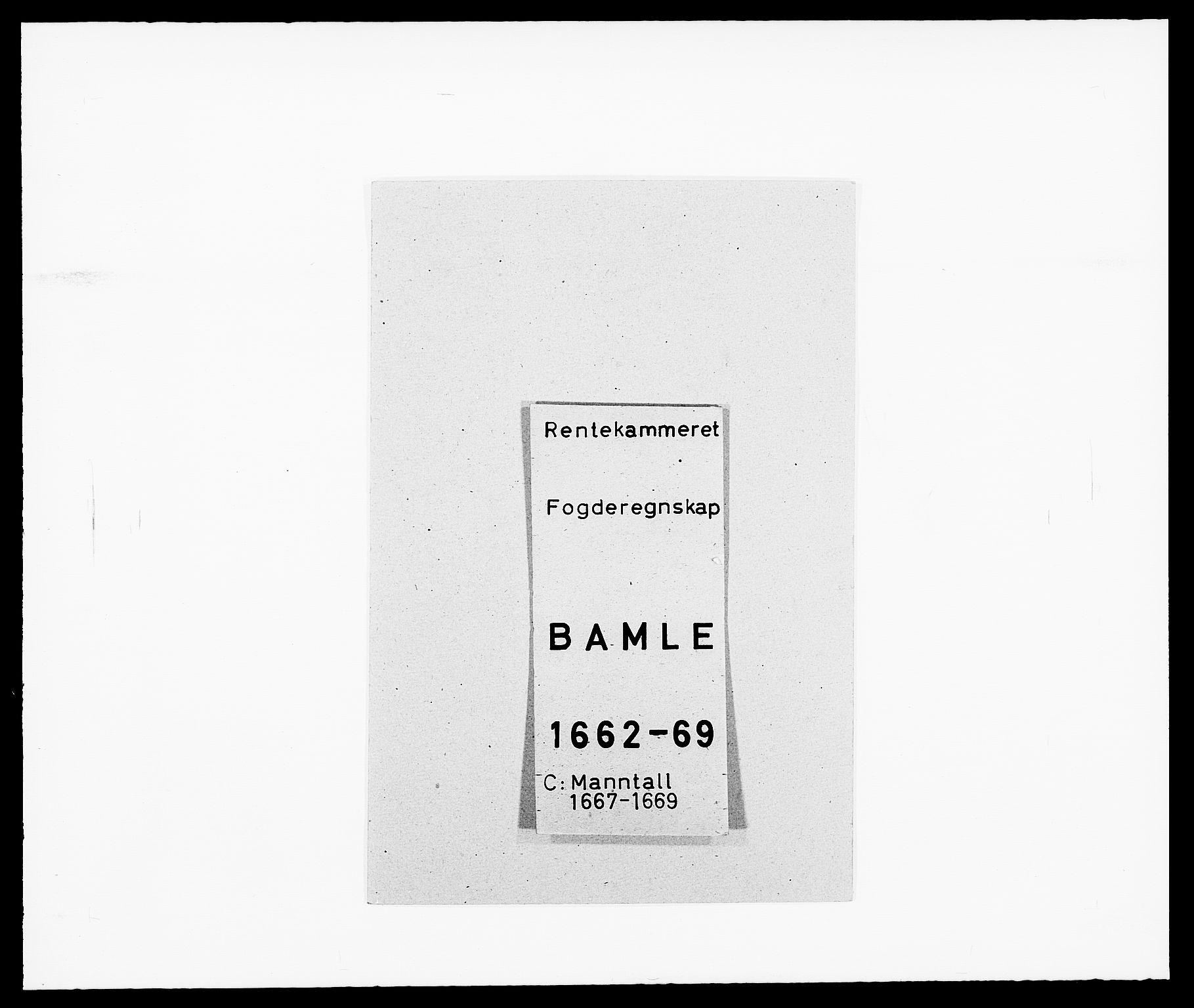 RA, Rentekammeret inntil 1814, Reviderte regnskaper, Fogderegnskap, R34/L2039: Fogderegnskap Bamble, 1662-1669, s. 160