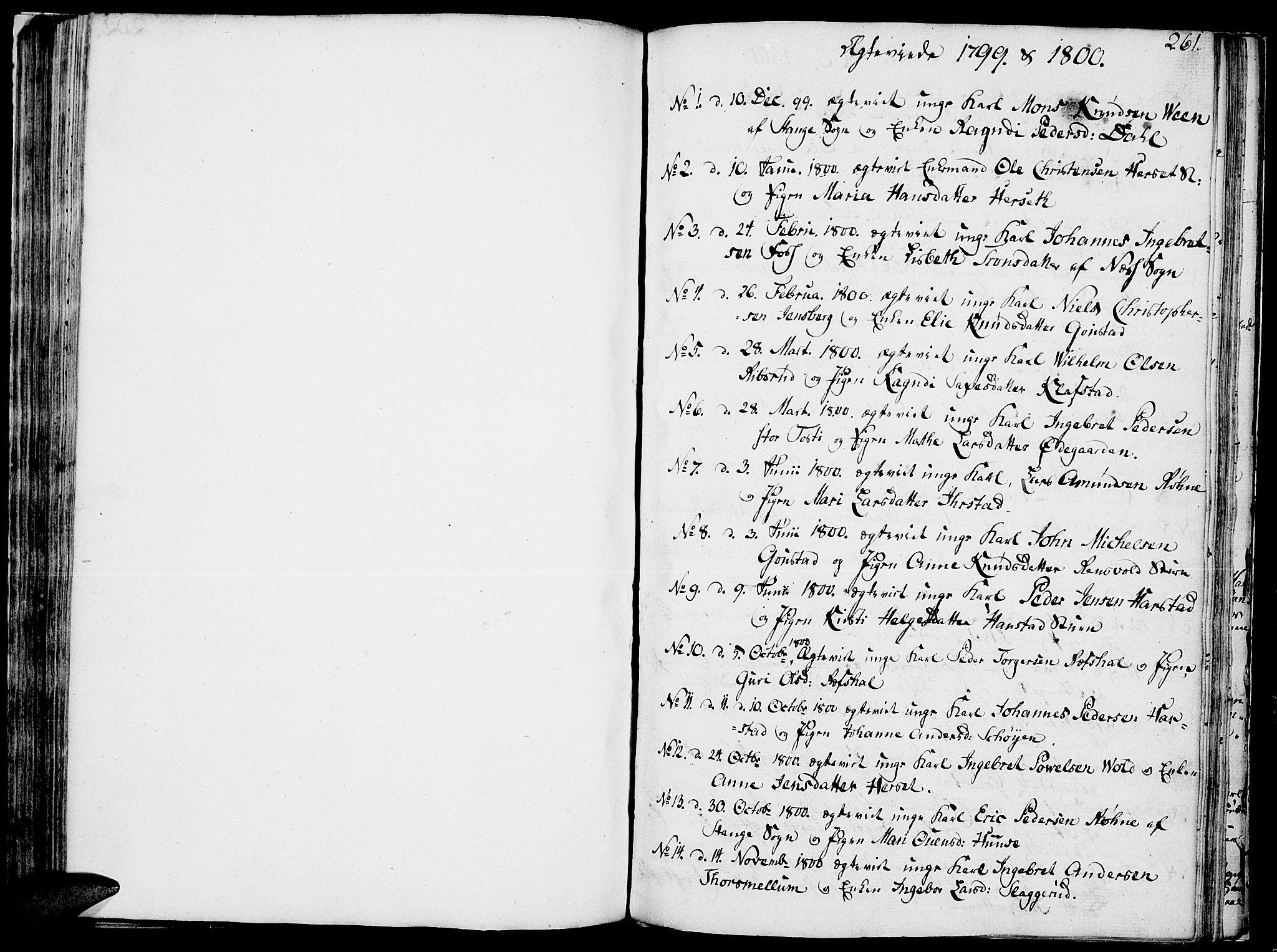 SAH, Romedal prestekontor, K/L0001: Ministerialbok nr. 1, 1799-1814, s. 261
