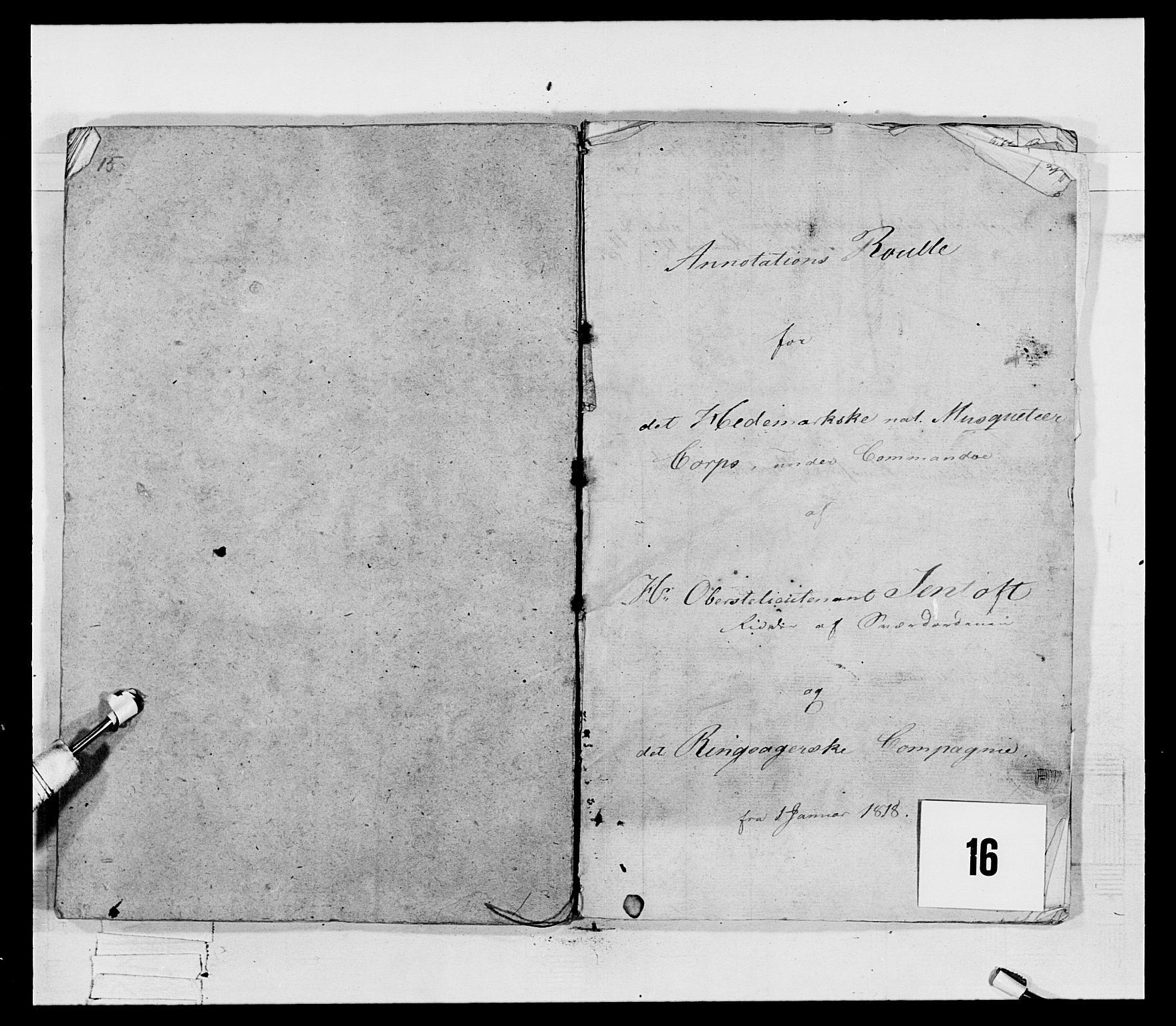 RA, Generalitets- og kommissariatskollegiet, Det kongelige norske kommissariatskollegium, E/Eh/L0069: Opplandske gevorbne infanteriregiment, 1810-1818, s. 746