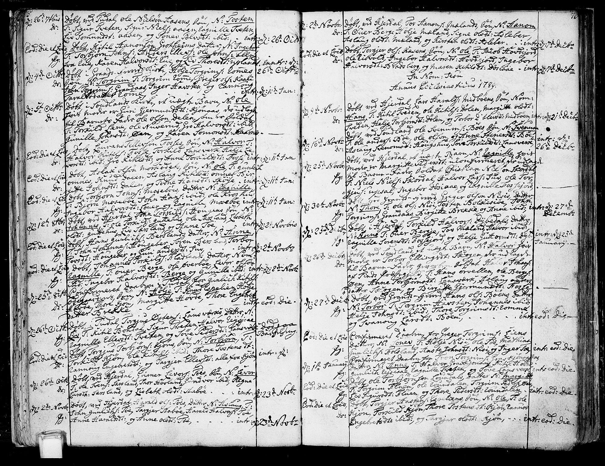 SAKO, Hjartdal kirkebøker, F/Fa/L0005: Ministerialbok nr. I 5, 1776-1801, s. 75-76