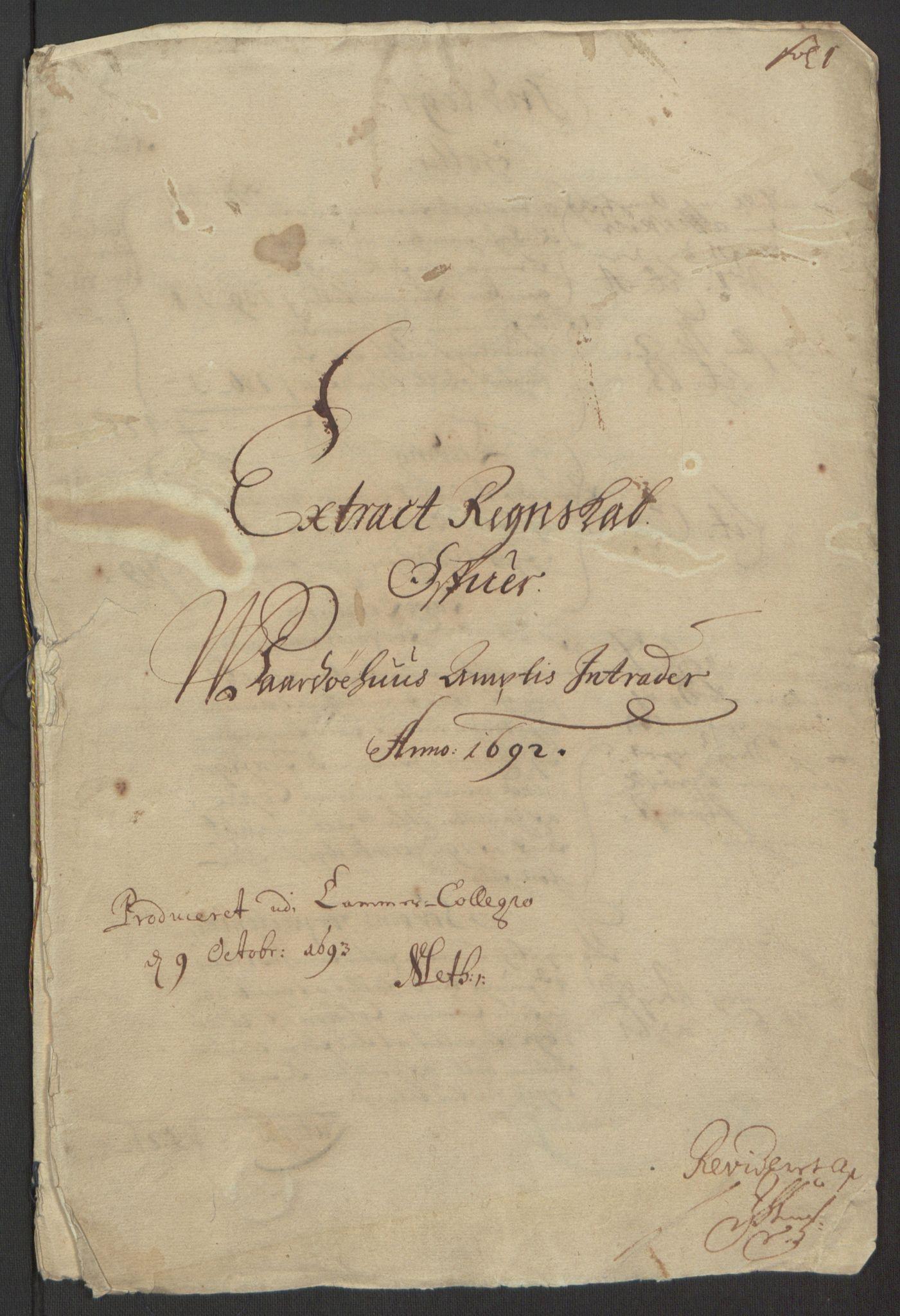 RA, Rentekammeret inntil 1814, Reviderte regnskaper, Fogderegnskap, R69/L4851: Fogderegnskap Finnmark/Vardøhus, 1691-1700, s. 133