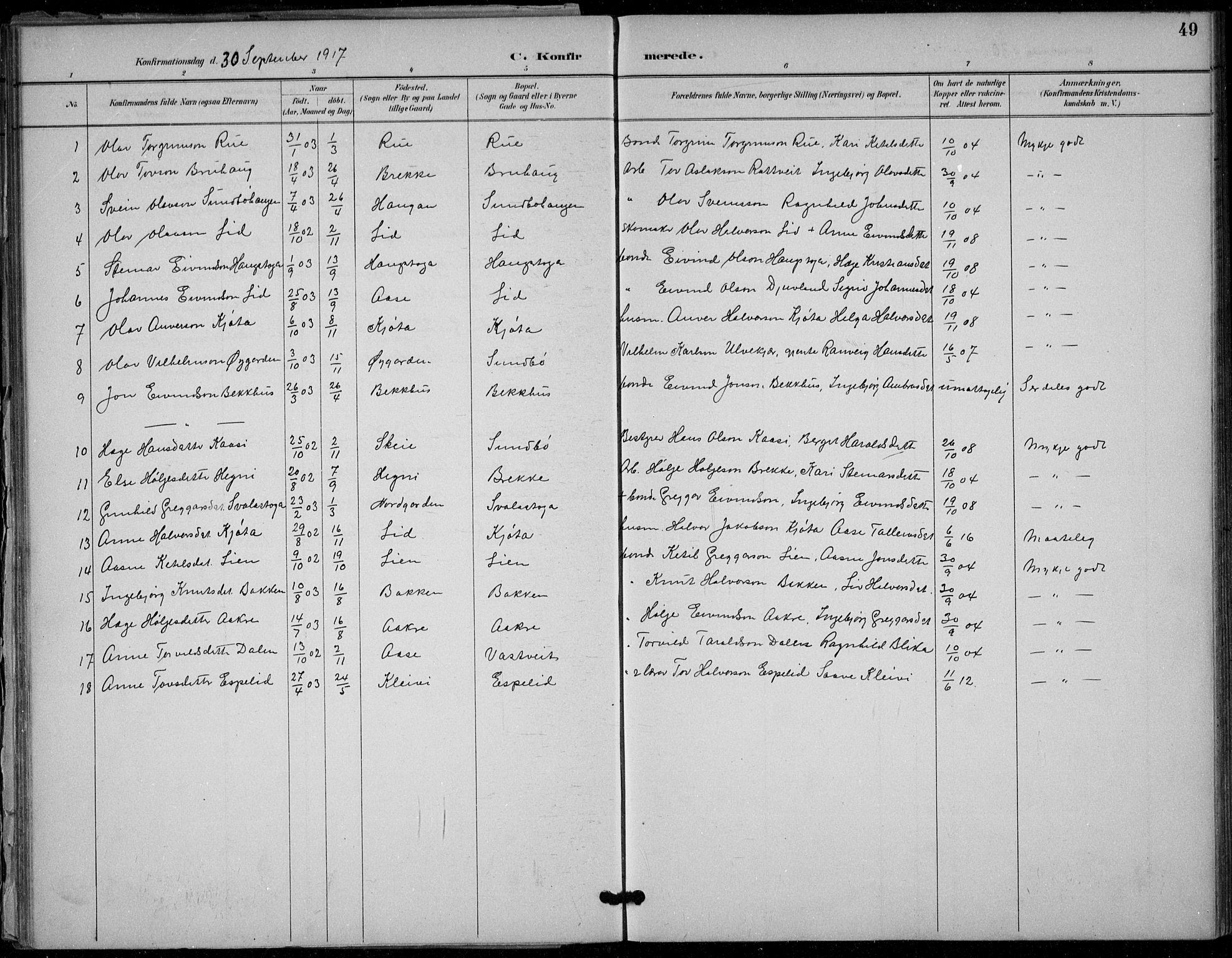 SAKO, Seljord kirkebøker, F/Fb/L0002: Ministerialbok nr. II 2, 1887-1917, s. 49