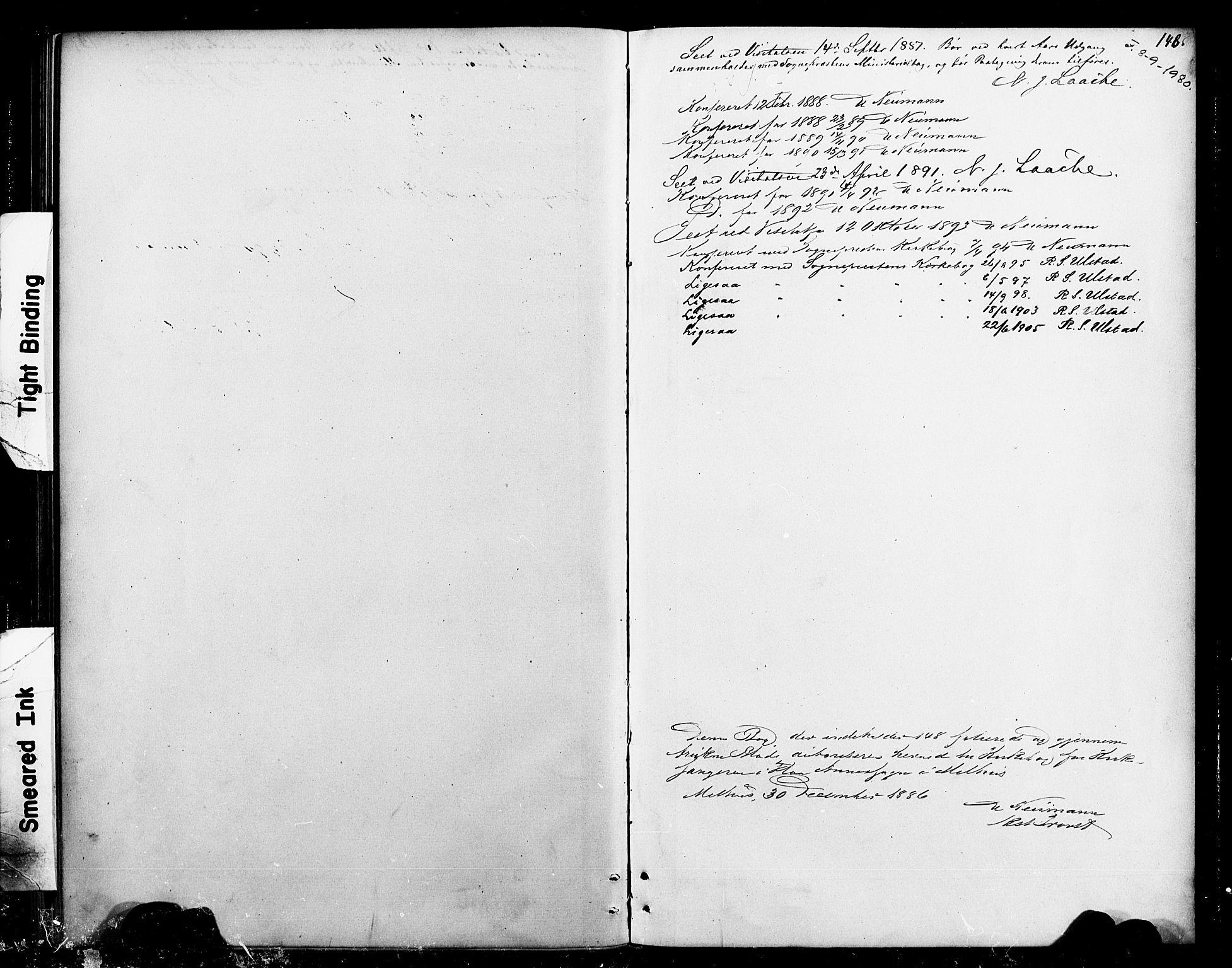 SAT, Ministerialprotokoller, klokkerbøker og fødselsregistre - Sør-Trøndelag, 693/L1123: Klokkerbok nr. 693C04, 1887-1910, s. 148
