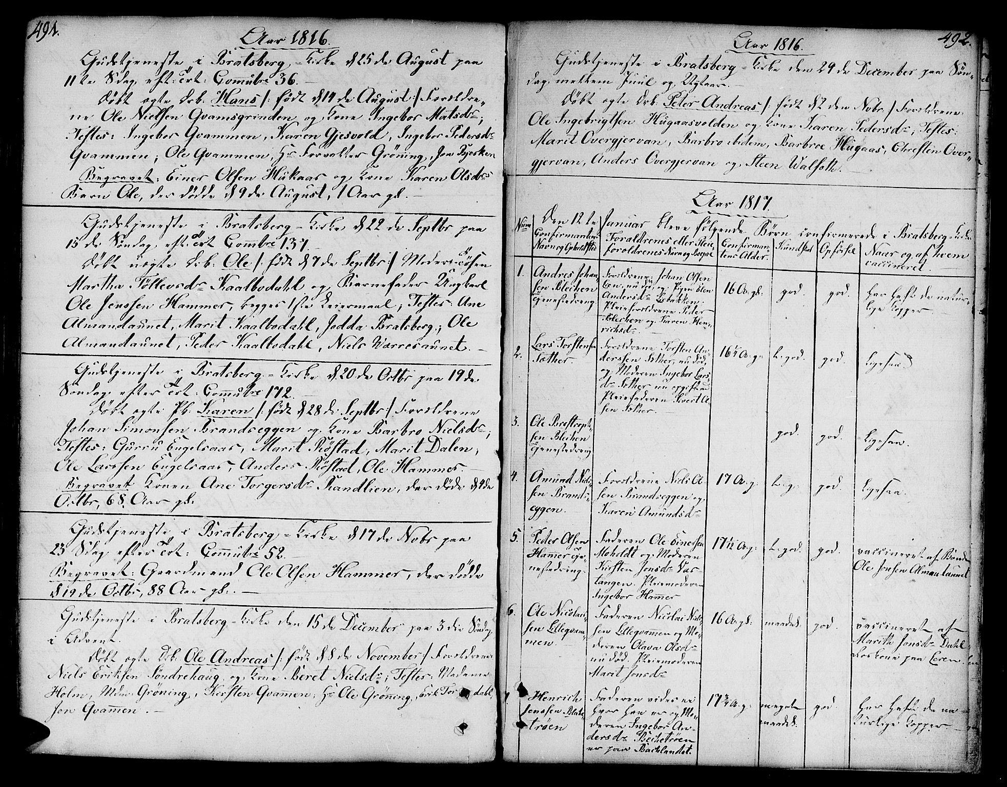SAT, Ministerialprotokoller, klokkerbøker og fødselsregistre - Sør-Trøndelag, 606/L0282: Ministerialbok nr. 606A02 /3, 1781-1817, s. 491-492