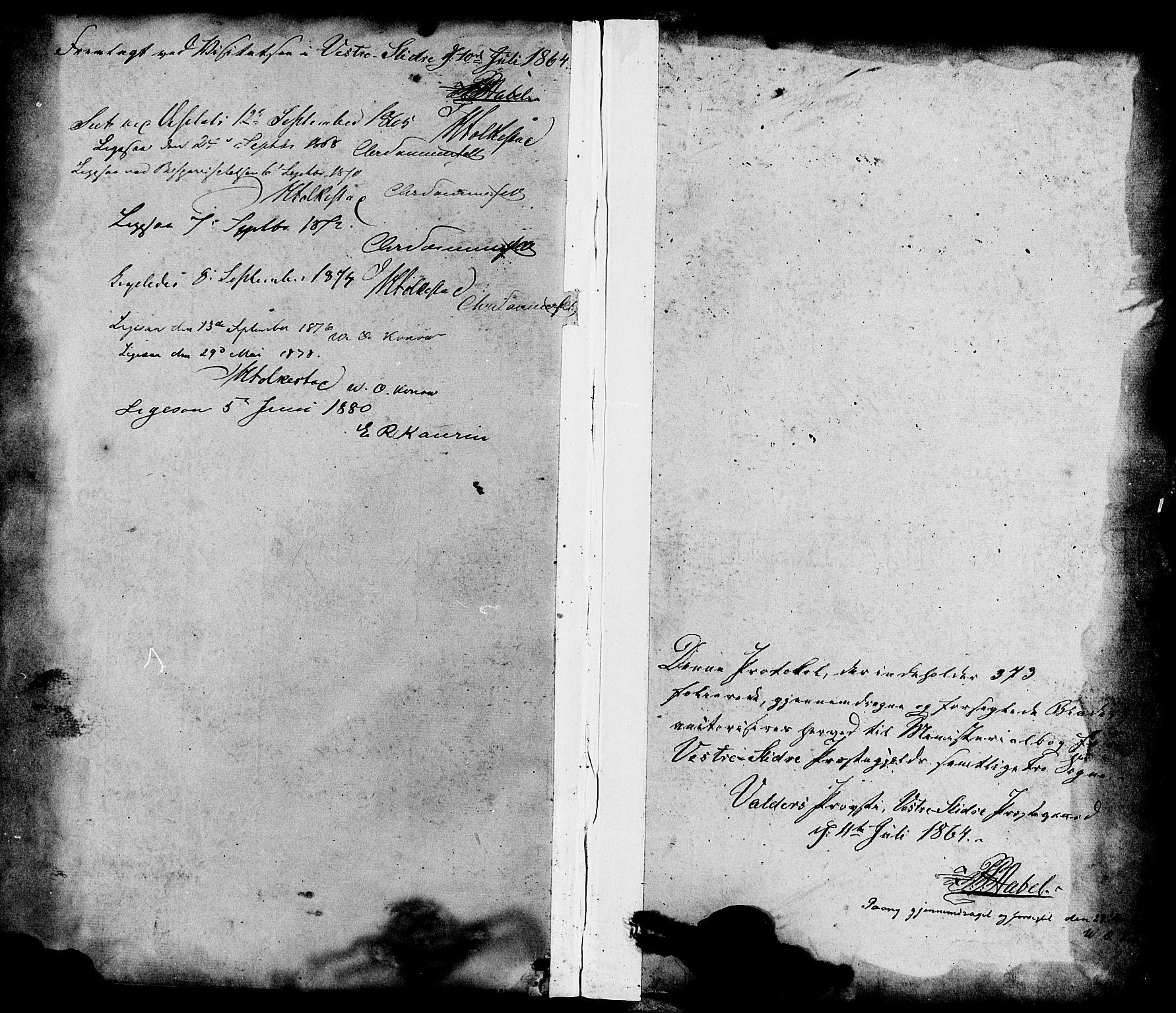 SAH, Vestre Slidre prestekontor, Ministerialbok nr. 3, 1865-1880