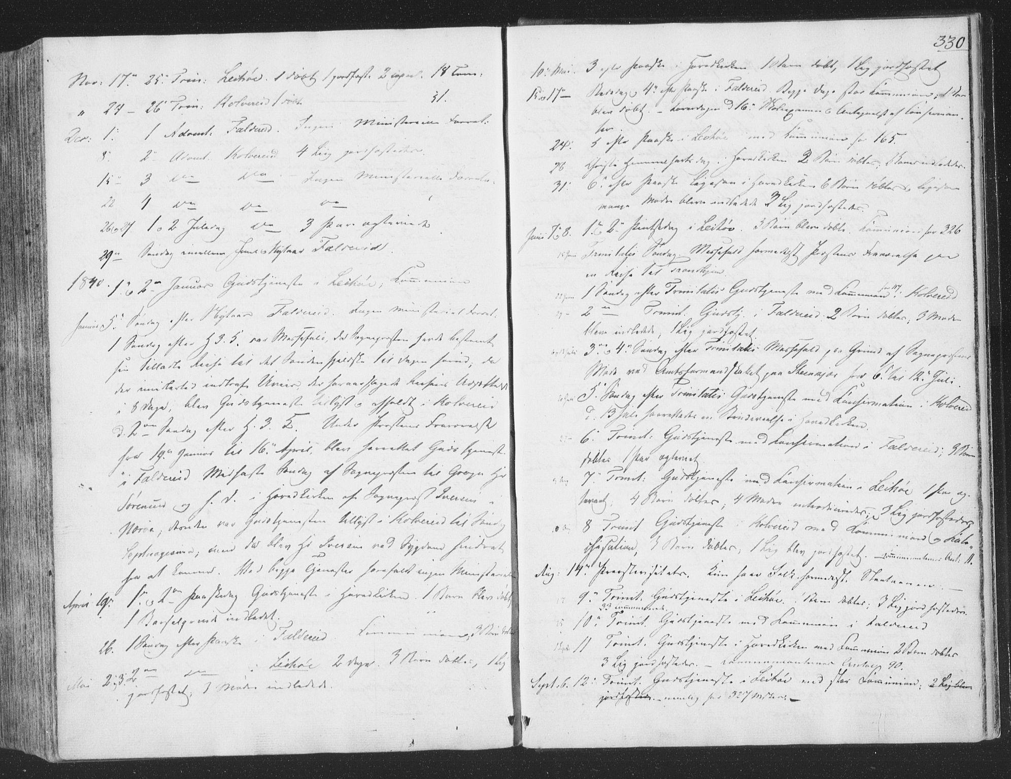 SAT, Ministerialprotokoller, klokkerbøker og fødselsregistre - Nord-Trøndelag, 780/L0639: Ministerialbok nr. 780A04, 1830-1844, s. 330