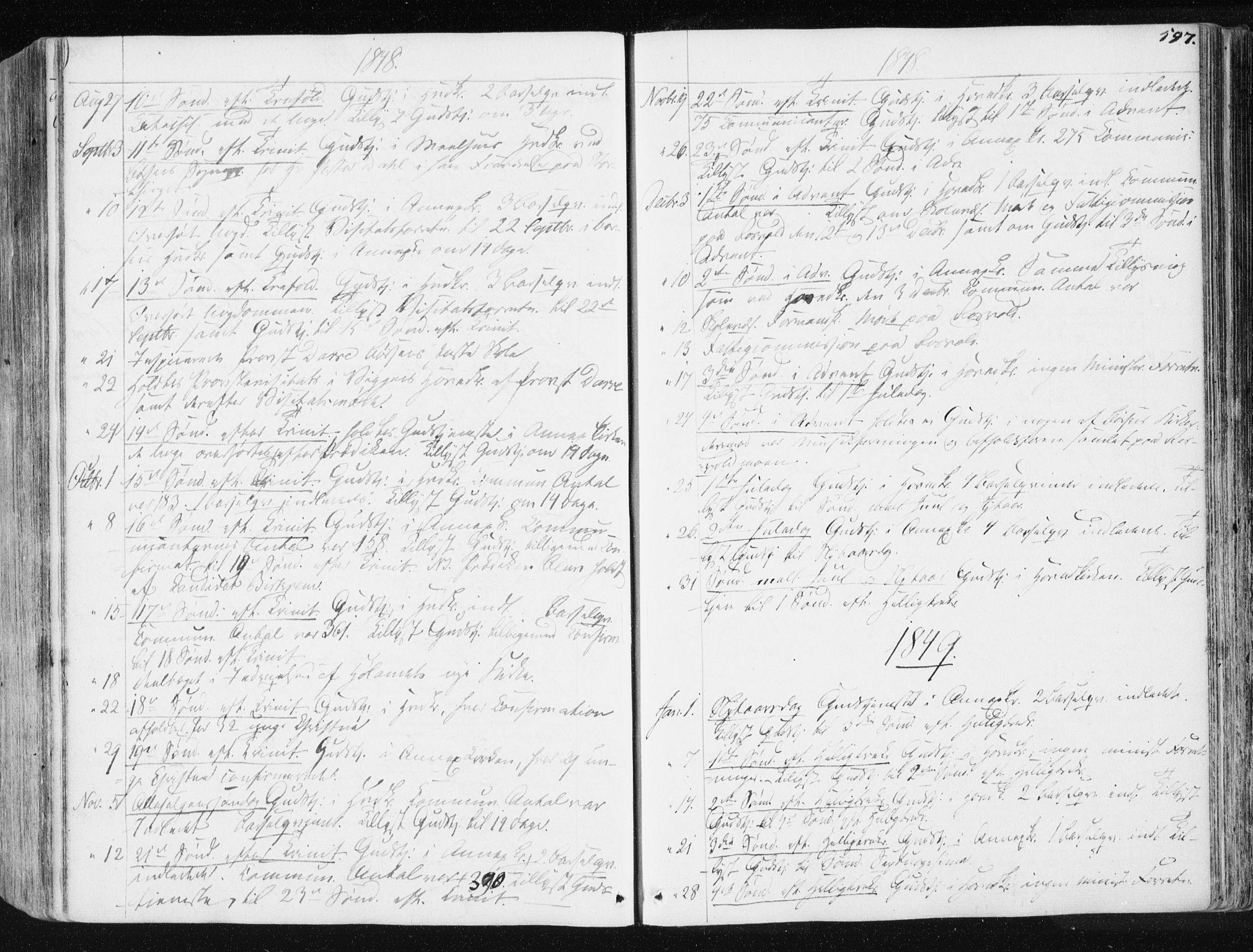 SAT, Ministerialprotokoller, klokkerbøker og fødselsregistre - Sør-Trøndelag, 665/L0771: Ministerialbok nr. 665A06, 1830-1856, s. 597