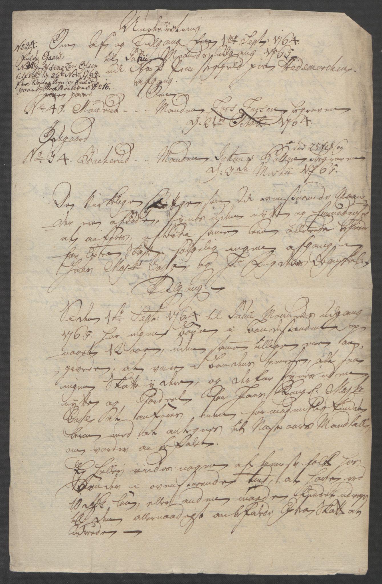 RA, Rentekammeret inntil 1814, Reviderte regnskaper, Fogderegnskap, R16/L1148: Ekstraskatten Hedmark, 1764, s. 290