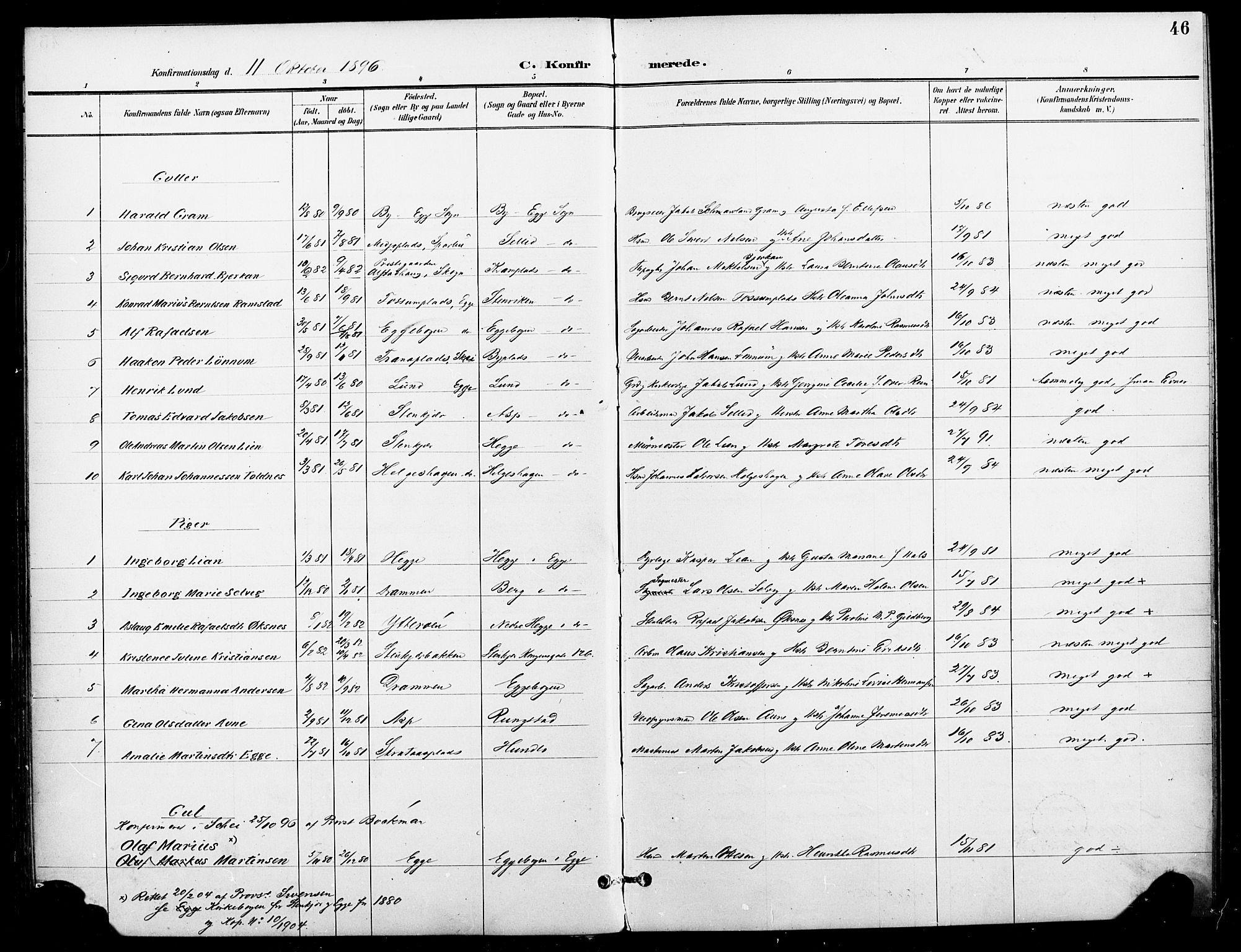SAT, Ministerialprotokoller, klokkerbøker og fødselsregistre - Nord-Trøndelag, 740/L0379: Ministerialbok nr. 740A02, 1895-1907, s. 46