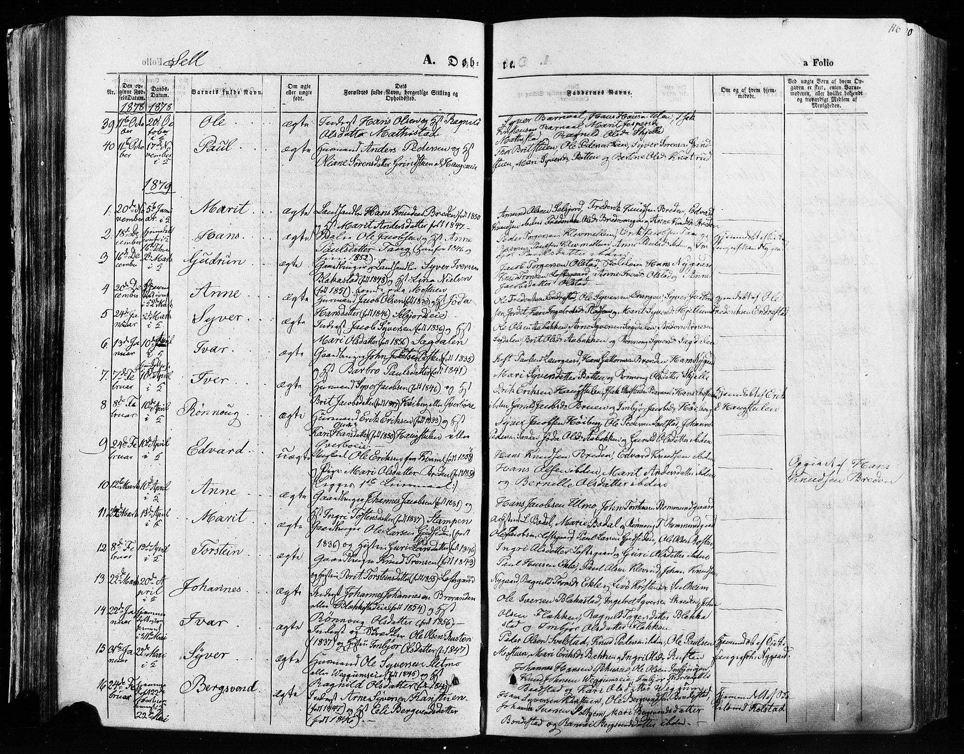 SAH, Vågå prestekontor, Ministerialbok nr. 7 /3, 1872-1886, s. 116