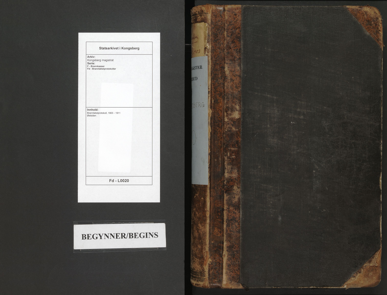 SAKO, Kongsberg magistrat, F/Fd/L0020: Branntakstprotokoll, 1903-1911
