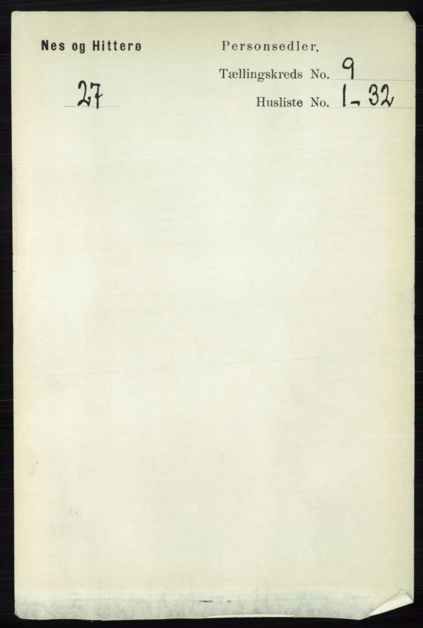 RA, Folketelling 1891 for 1043 Hidra og Nes herred, 1891, s. 3766