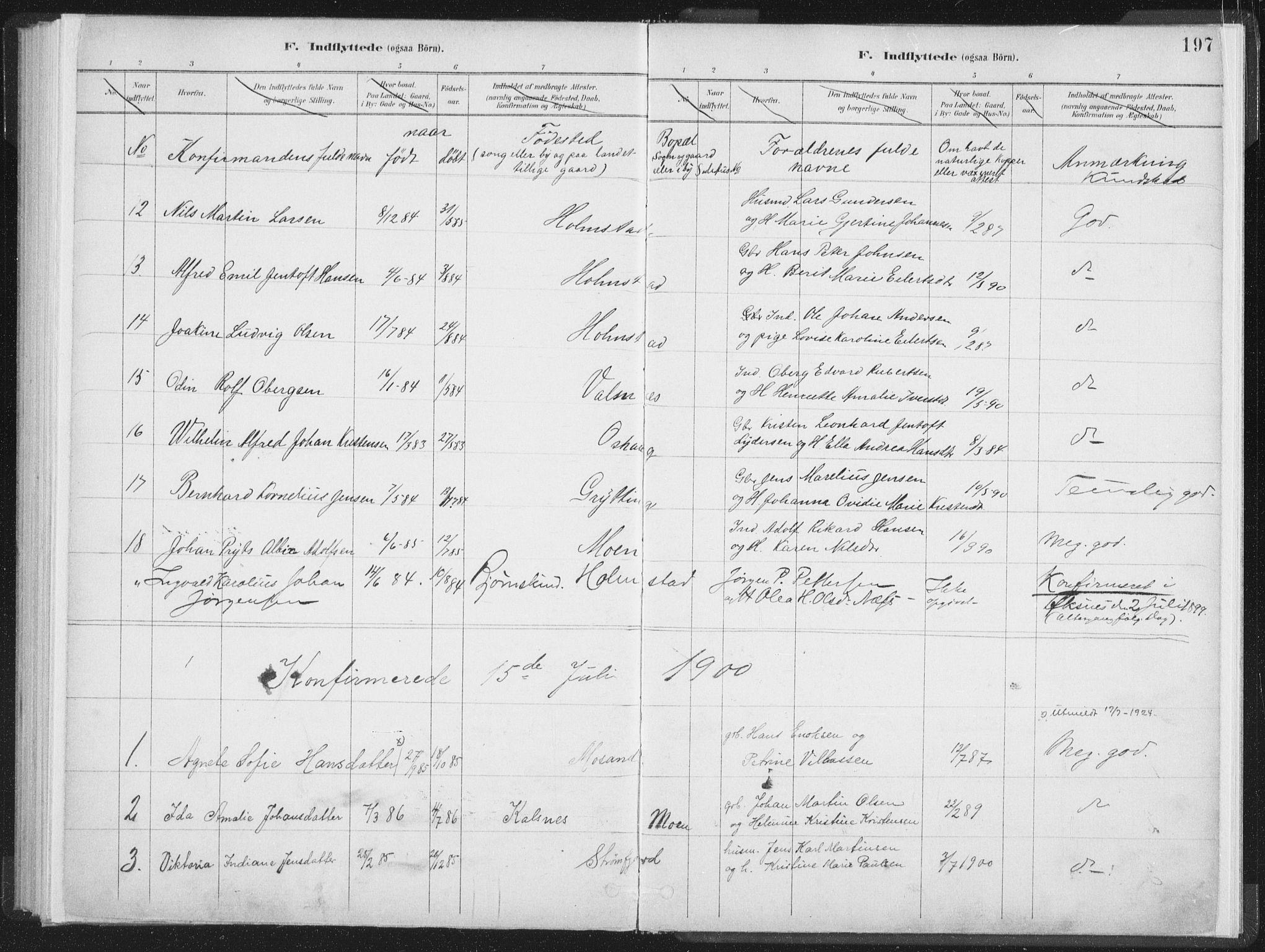 SAT, Ministerialprotokoller, klokkerbøker og fødselsregistre - Nordland, 890/L1286: Ministerialbok nr. 890A01, 1882-1902, s. 197