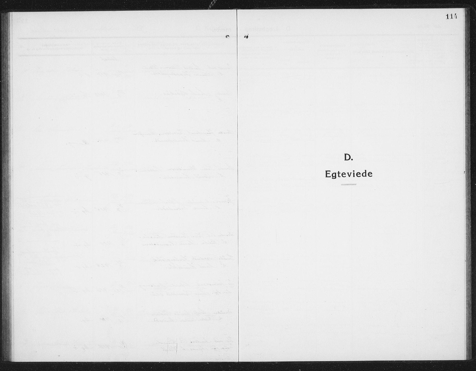 SAT, Ministerialprotokoller, klokkerbøker og fødselsregistre - Sør-Trøndelag, 675/L0888: Klokkerbok nr. 675C01, 1913-1935, s. 114