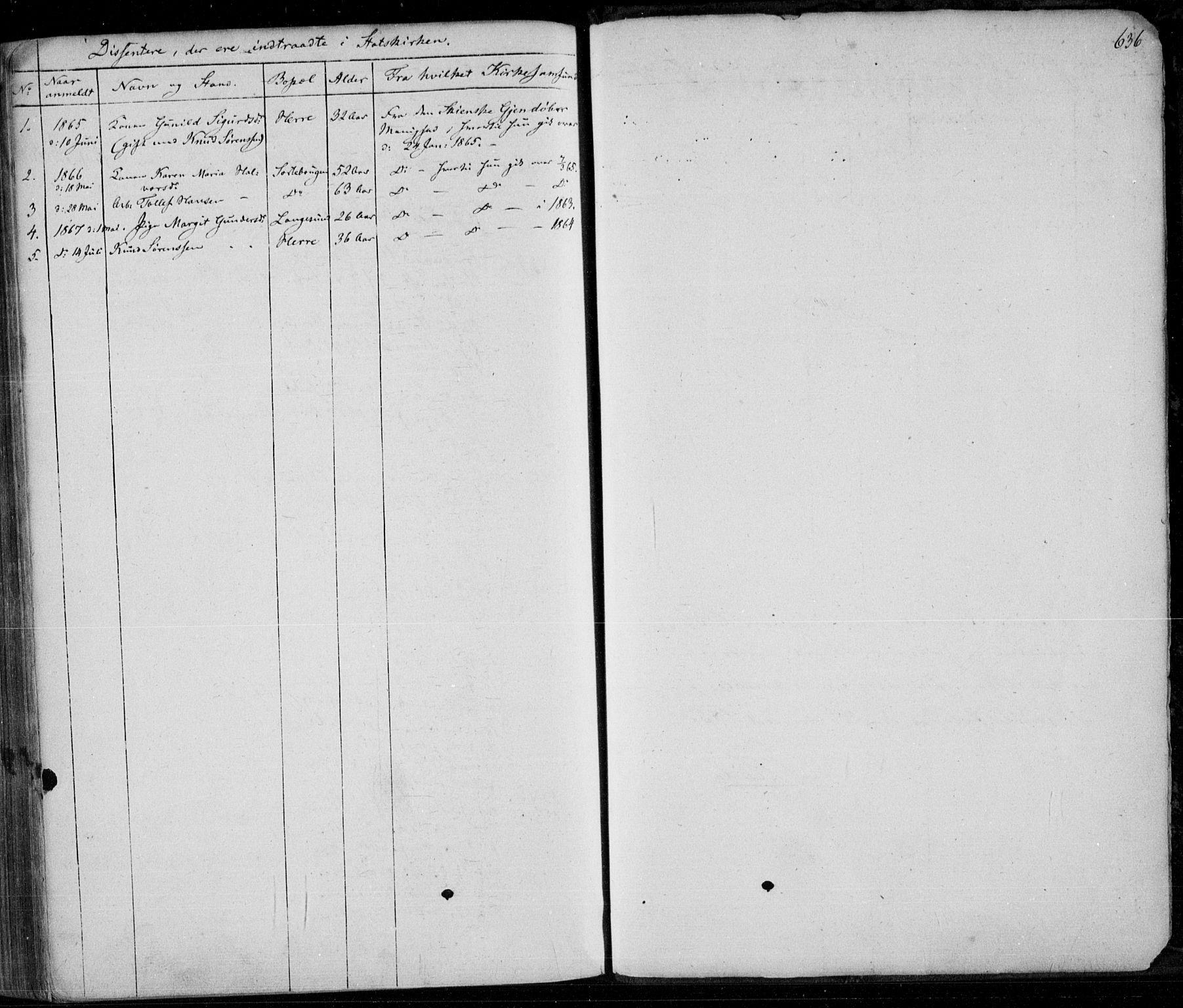 SAKO, Bamble kirkebøker, F/Fa/L0005: Ministerialbok nr. I 5, 1854-1869, s. 636